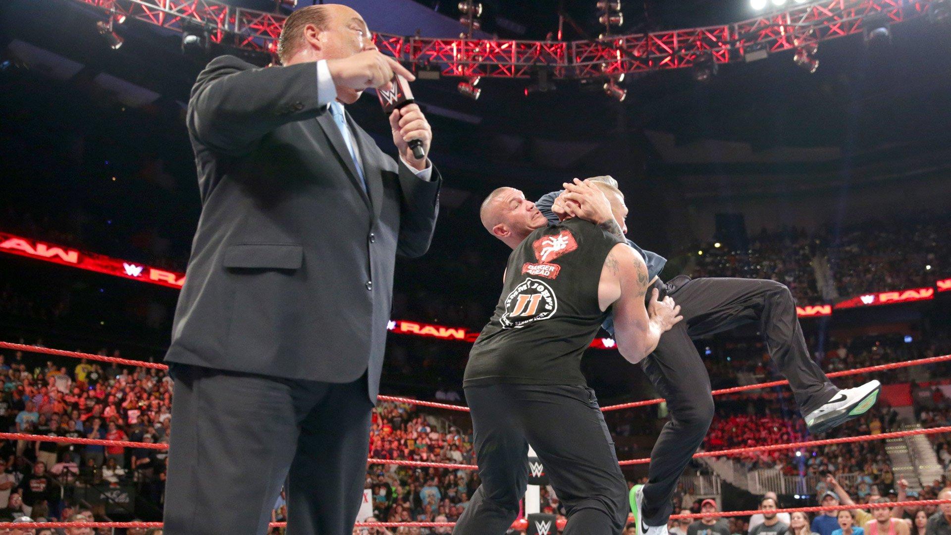 Randy Orton prend Raw d'assaut pour attaquer Brock Lesnar: Raw, 1er août 2016
