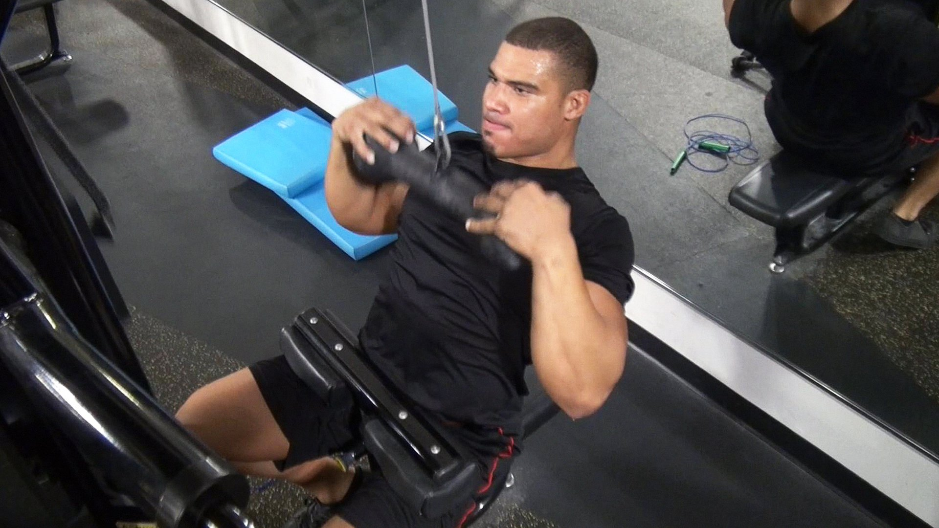 American Alpha's Jason Jordan gets a workout in at the WWE Performance Center