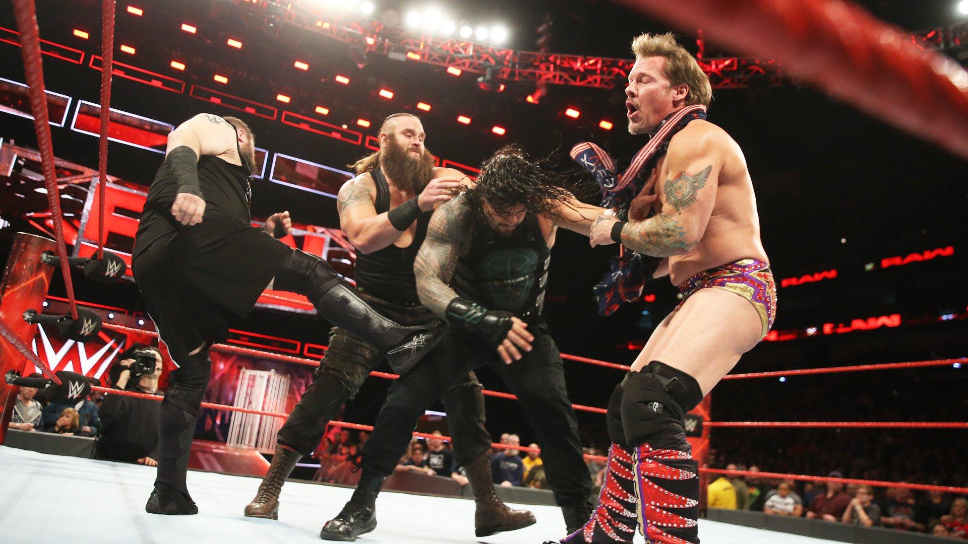 Braun Strowman interrompt le Match Handicap 2-contre-1 pour le titre de Champion des États-Unis: Raw, 9 janvier 2017