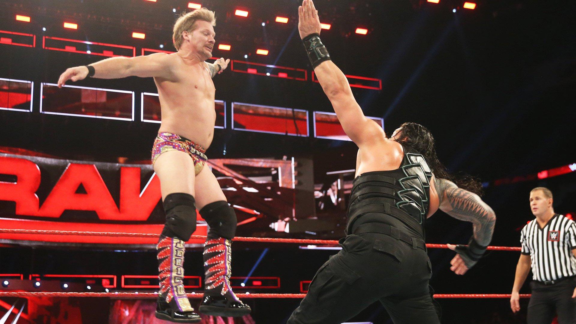 Roman Reigns vs. Kevin Owens & Chris Jericho - Match Handicap à 2 contre 1 pour le titre des États-Unis: Raw, 9 janvier 2017