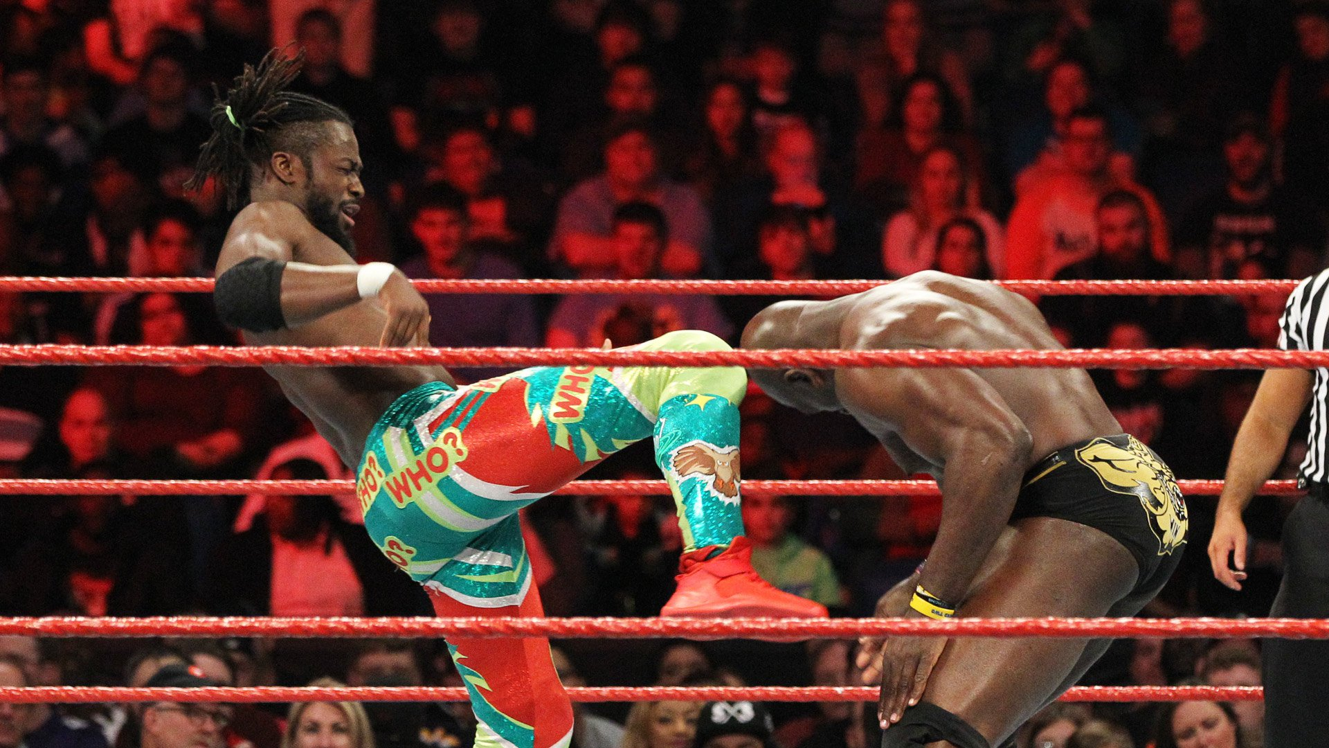 Kofi Kingston vs. Titus O'Neil: Raw, 9 janvier 2017