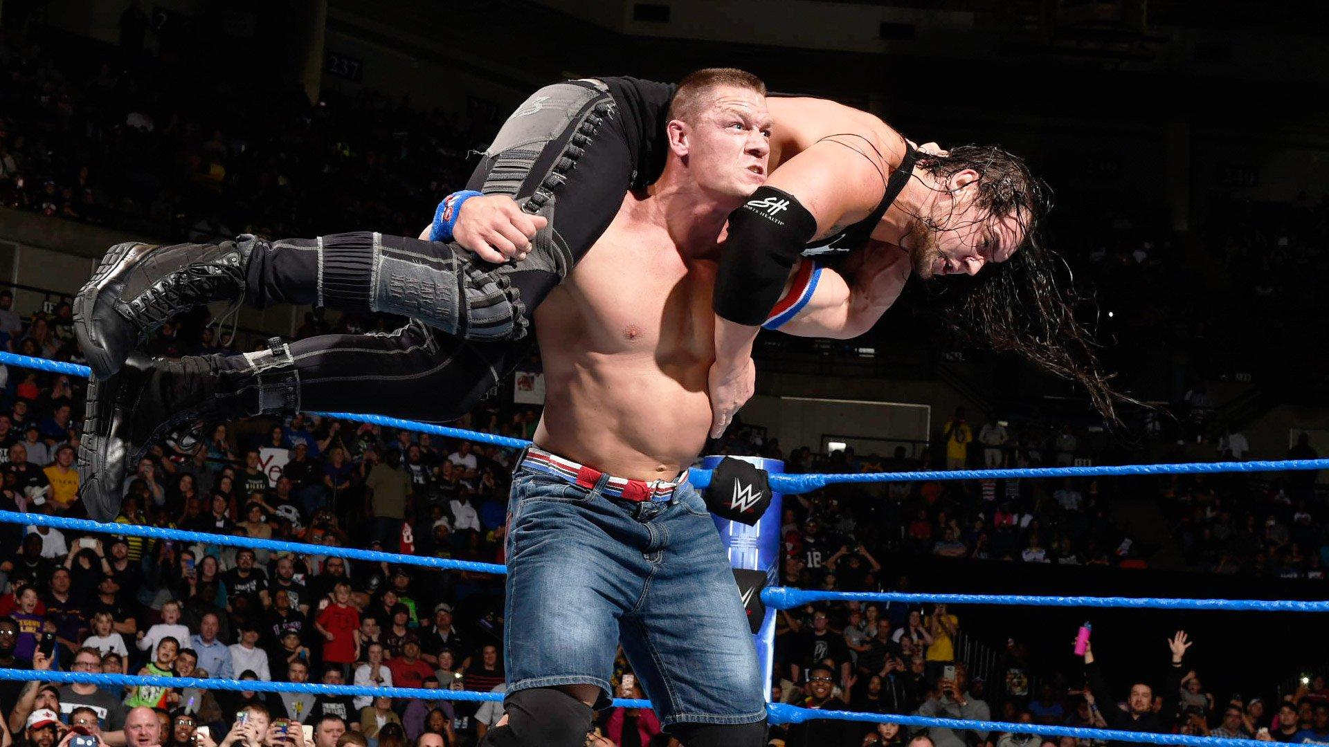 John Cena vs. Baron Corbin: SmackDown LIVE, 10 jan. 2017