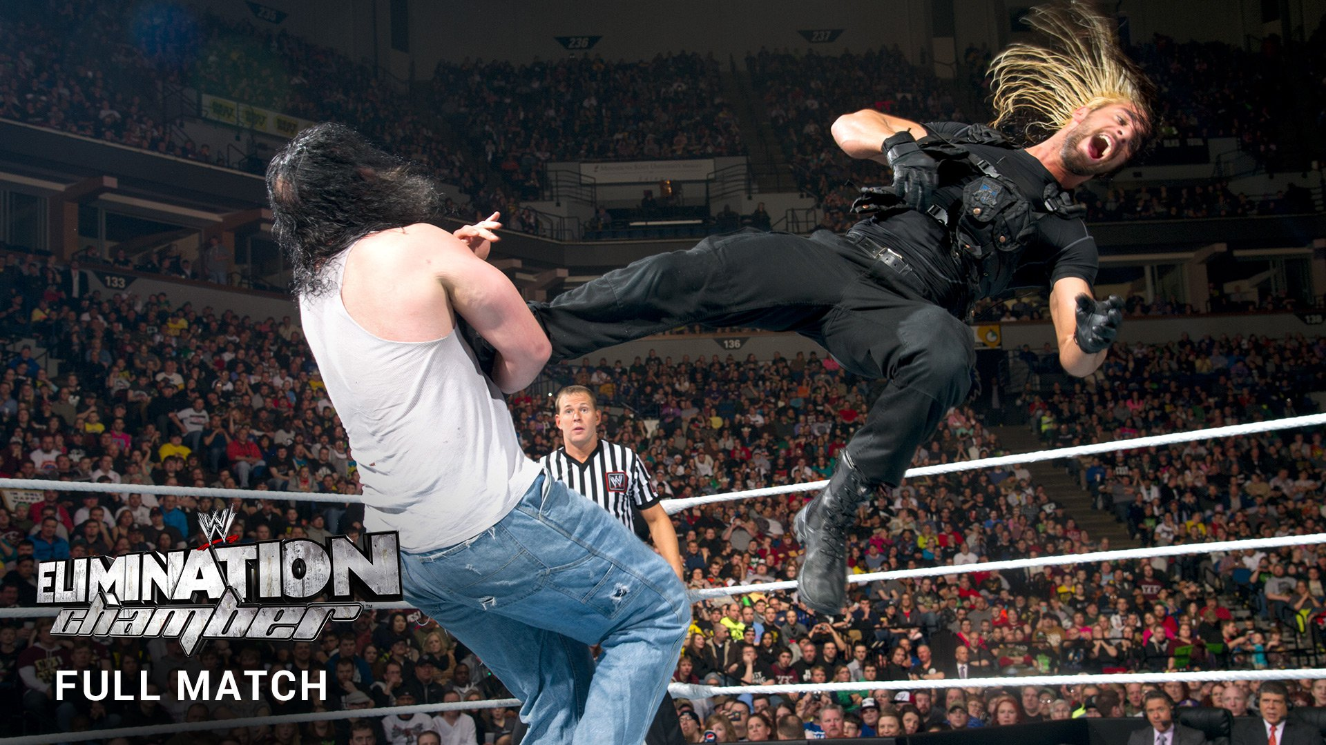 WWE Network: The Wyatt Family vs. The Shield (MATCH INTÉGRAL): Elimination Chamber 2014
