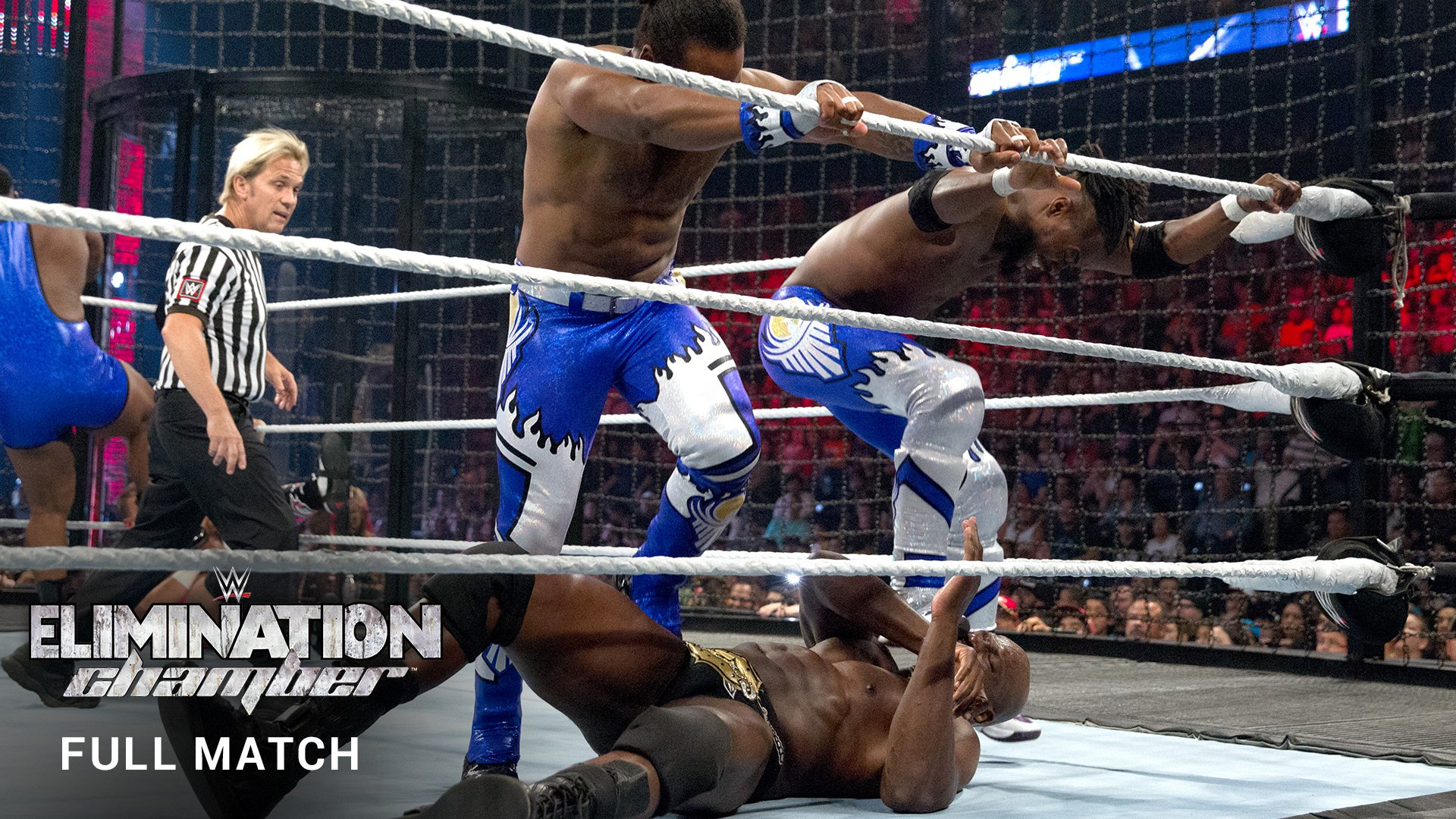 WWE Network: WWE Tag Team Title Elimination Chamber Match (FULL MATCH): Elimination Chamber 2015