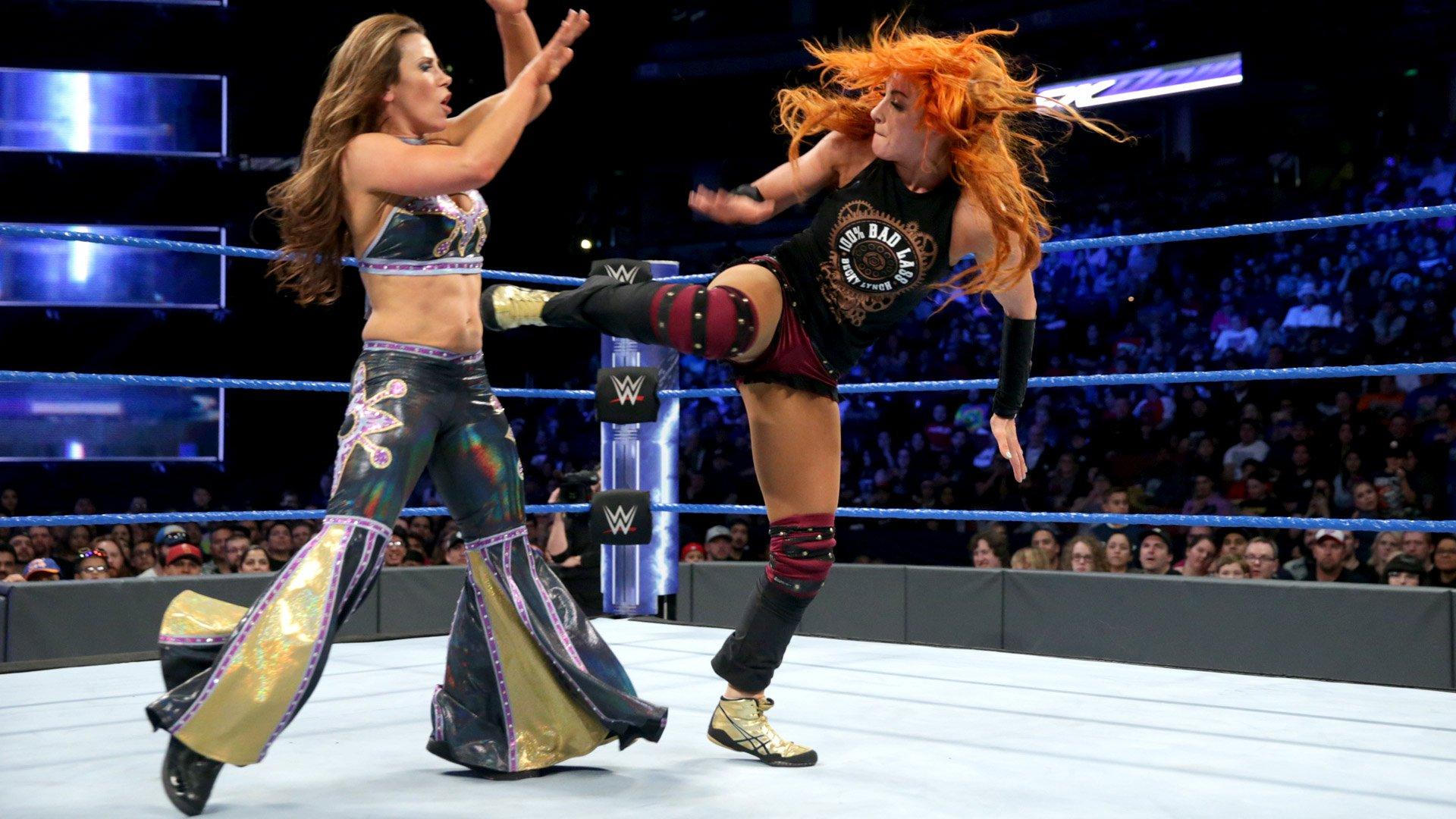 Becky Lynch vs. Mickie James: SmackDown LIVE, 14 fév. 2017