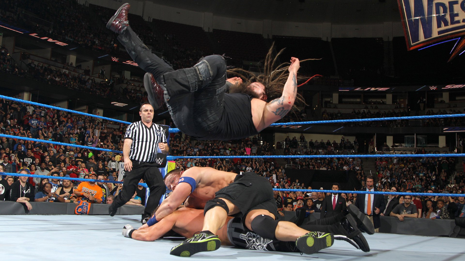 John Cena vs. Bray Wyatt vs. AJ Styles - Match Triple Menace pour le titre de Champion de la WWE: SmackDown LIVE, 14 fév. 2017