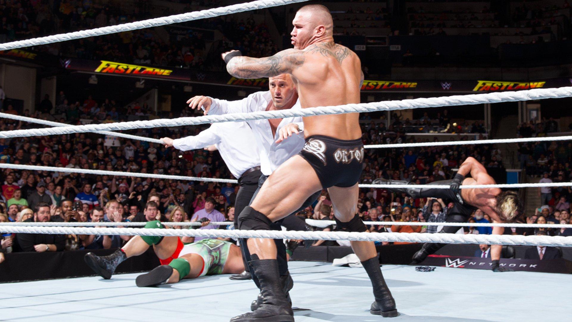 Randy Orton returns to RKO The Authority: WWE Fastlane 2015