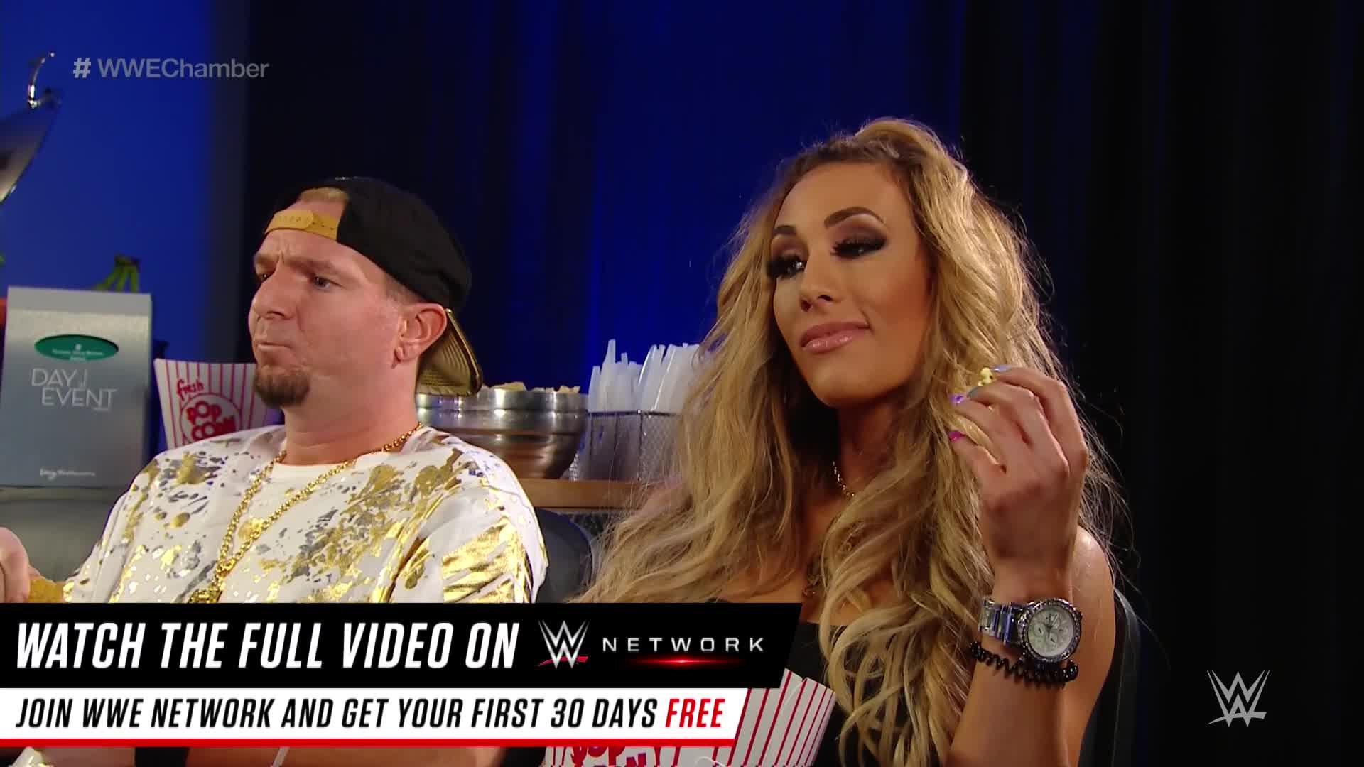 James Ellsworth i Carmella wspólnie oglądają galę: Elimination Chamber 2017 (WWE Network Exclusive)