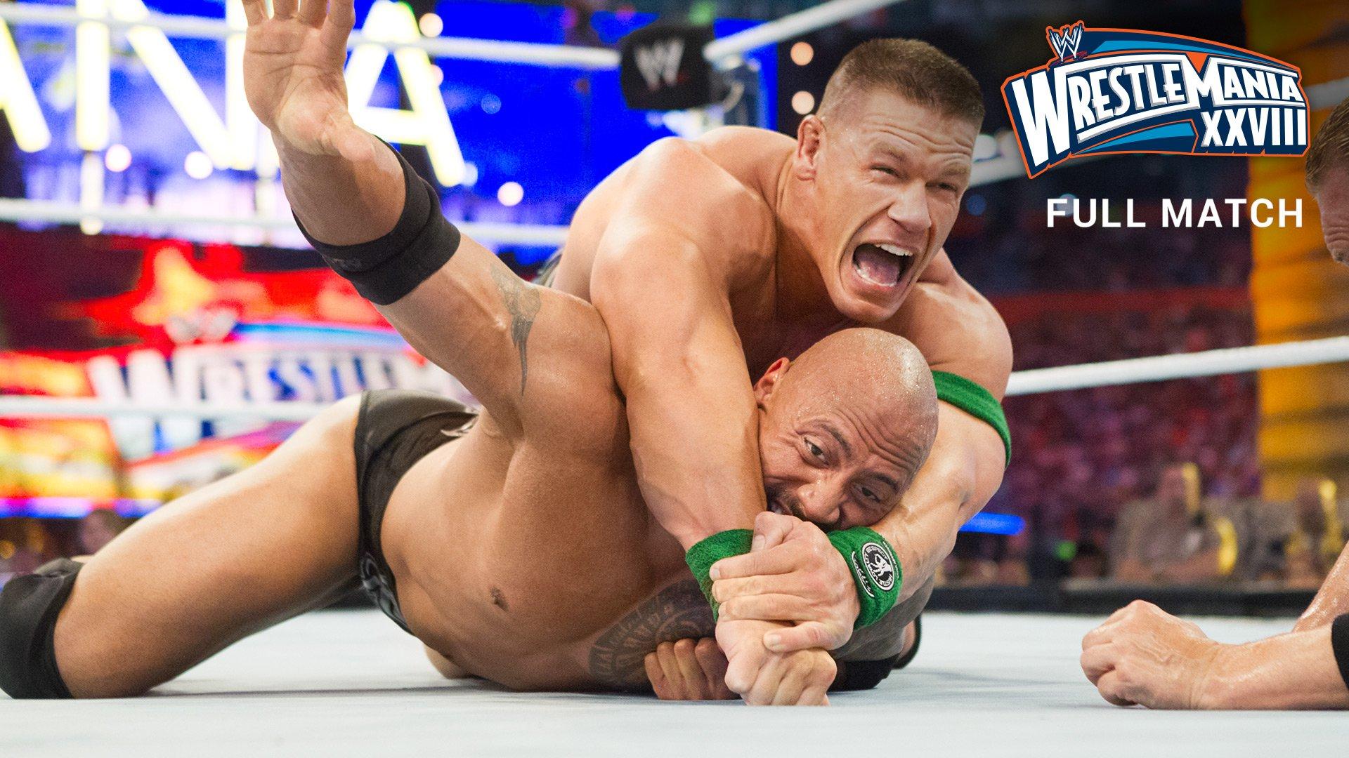 "The Rock vs. John Cena - ""Once in a Lifetime"" Match: WrestleMania XXVIII (Full Match - WWE Network Exclusive)"