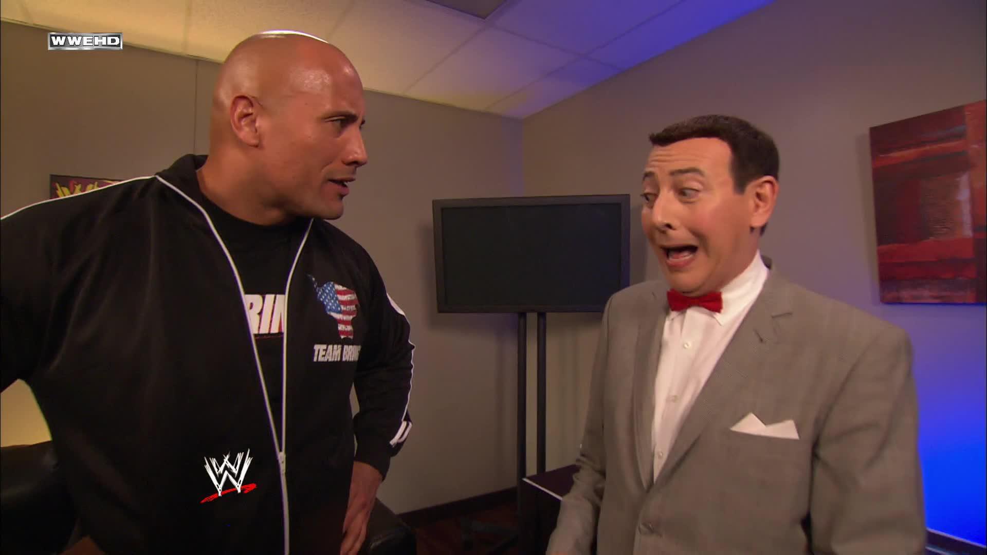 """Pee Wee Herman rejoint la """"Team Bring It"""" du Rock: WrestleMania 27"""