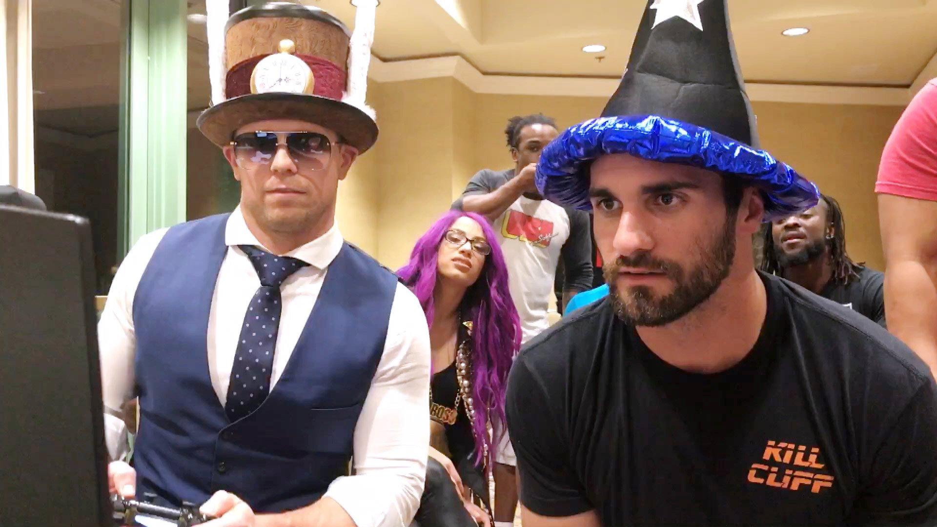 Seth Rollins affronte The Miz dans UpUpDownDown