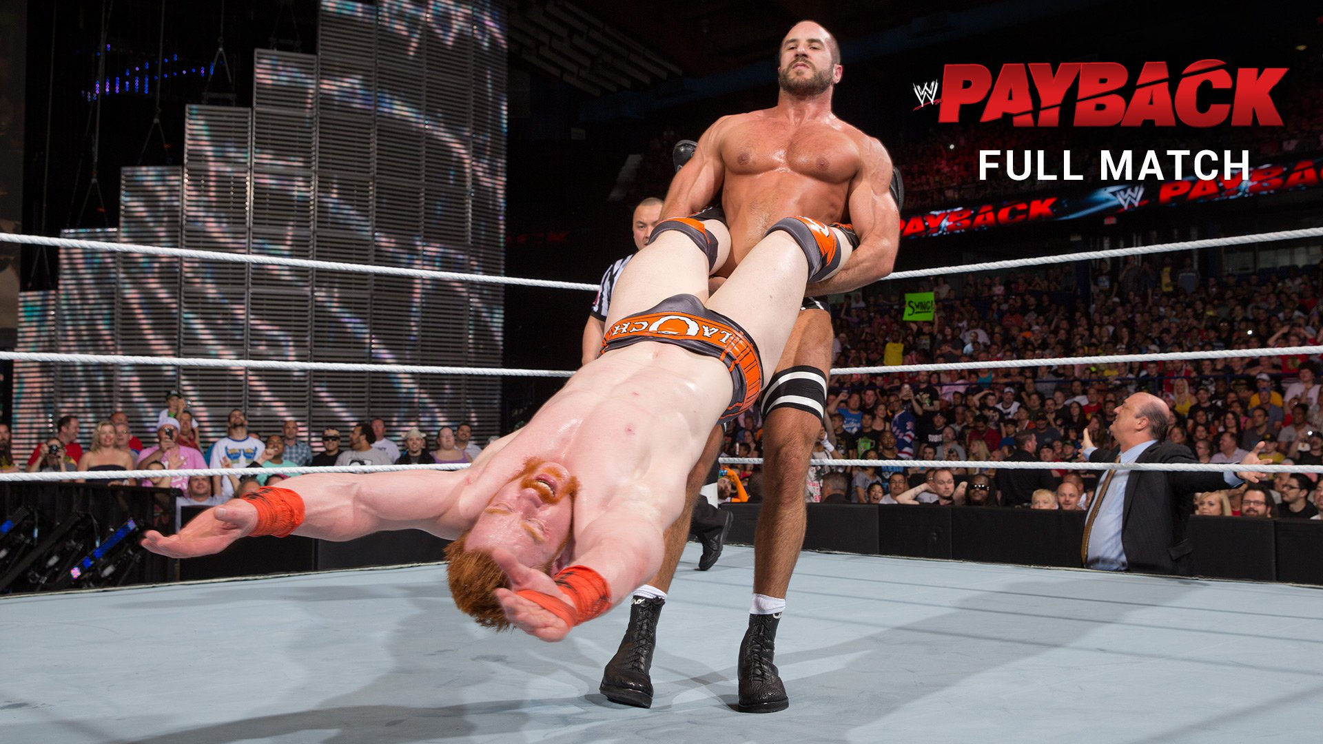 Sheamus vs. Cesaro - U.S. Title Match: WWE Payback 2014 (pełne starcie)