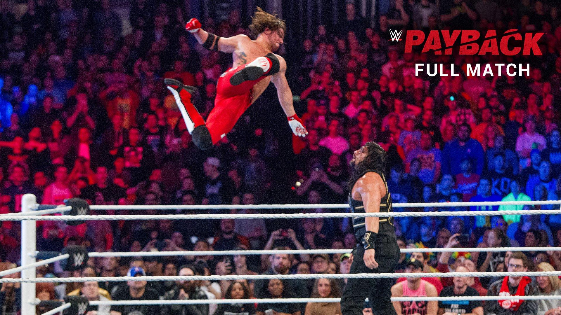 AJ Styles vs. Roman Reigns - WWE World Heavyweight Title Match: WWE Payback 2016 (Full Match - WWE Network Exclusive)