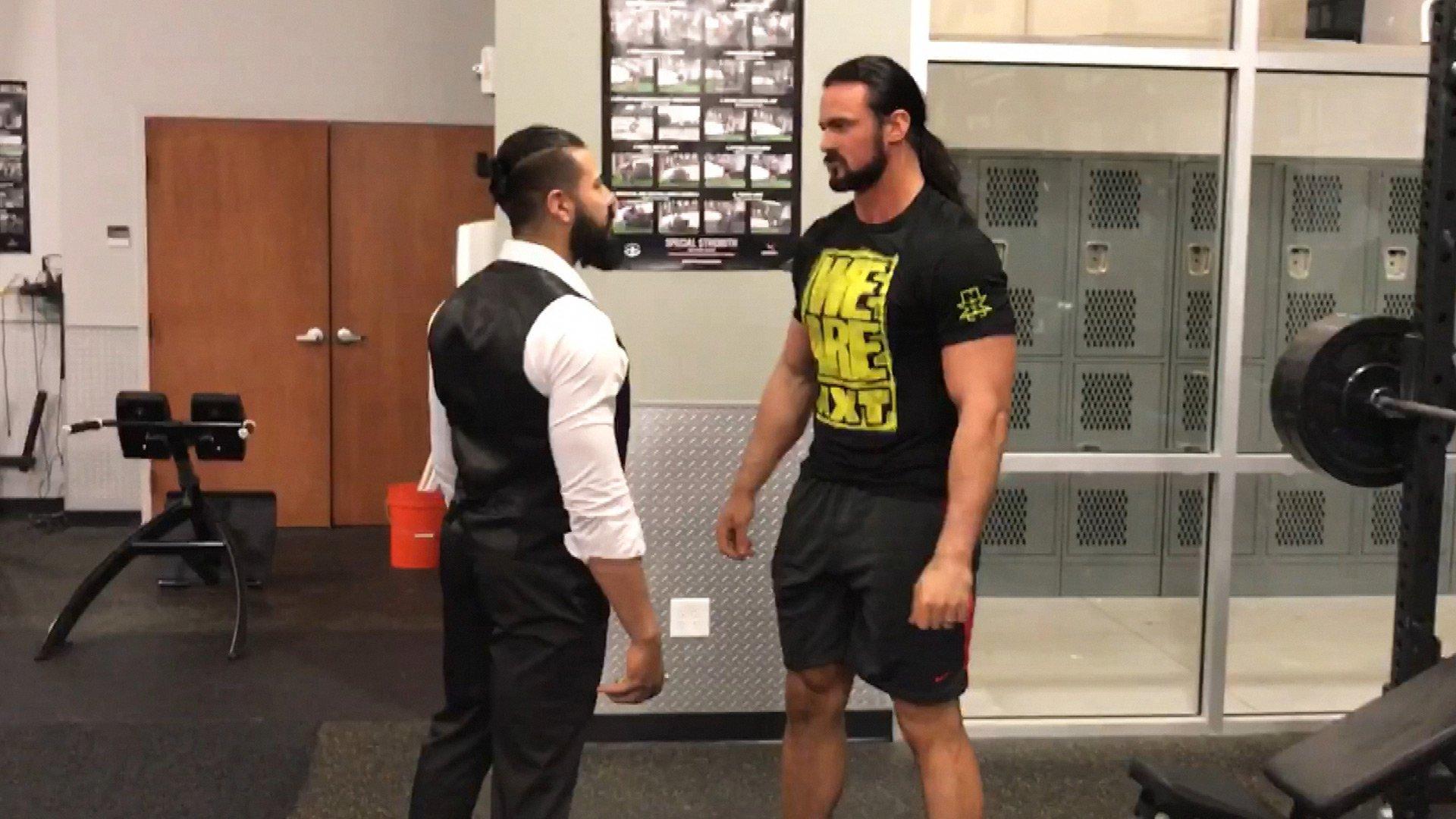 Andrade Almas przerywa Drew McIntyre jego trening w WWE Performance Center: WWE.com Exclusive 19.04.17