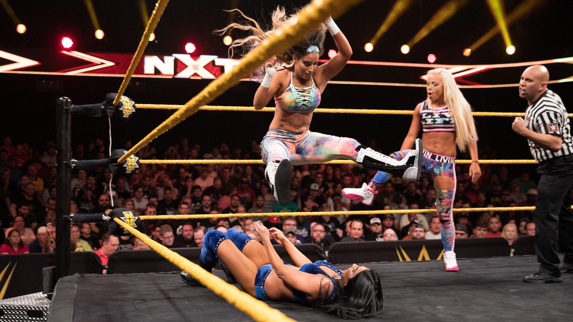 Liv Morgan & Aliyah vs. Peyton Royce & Billie Kay: WWE NXT 19.04.17