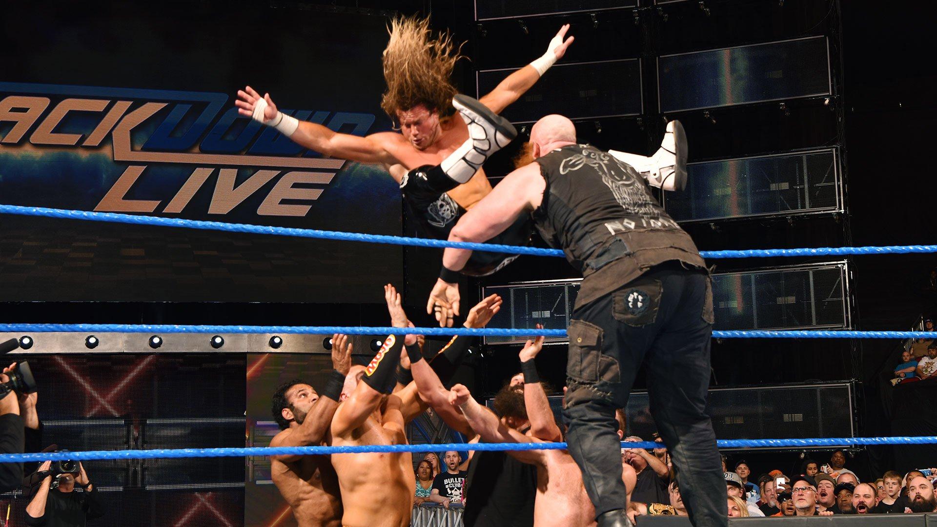 Six-Pack Challenger pour établir le Challenger nº1 du Champion de la WWE: SmackDown LIVE, 18 avril 2017