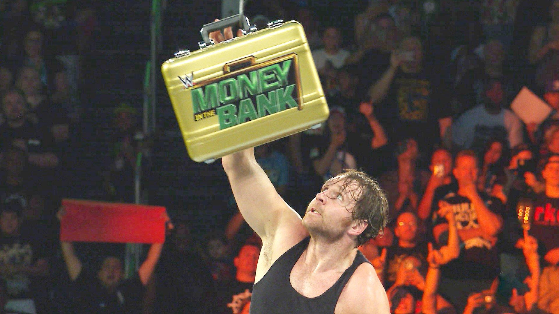 Dean Ambrose remporte le Match de l'Échelle WWE Money in the Bank: WWE Money in the Bank 2016