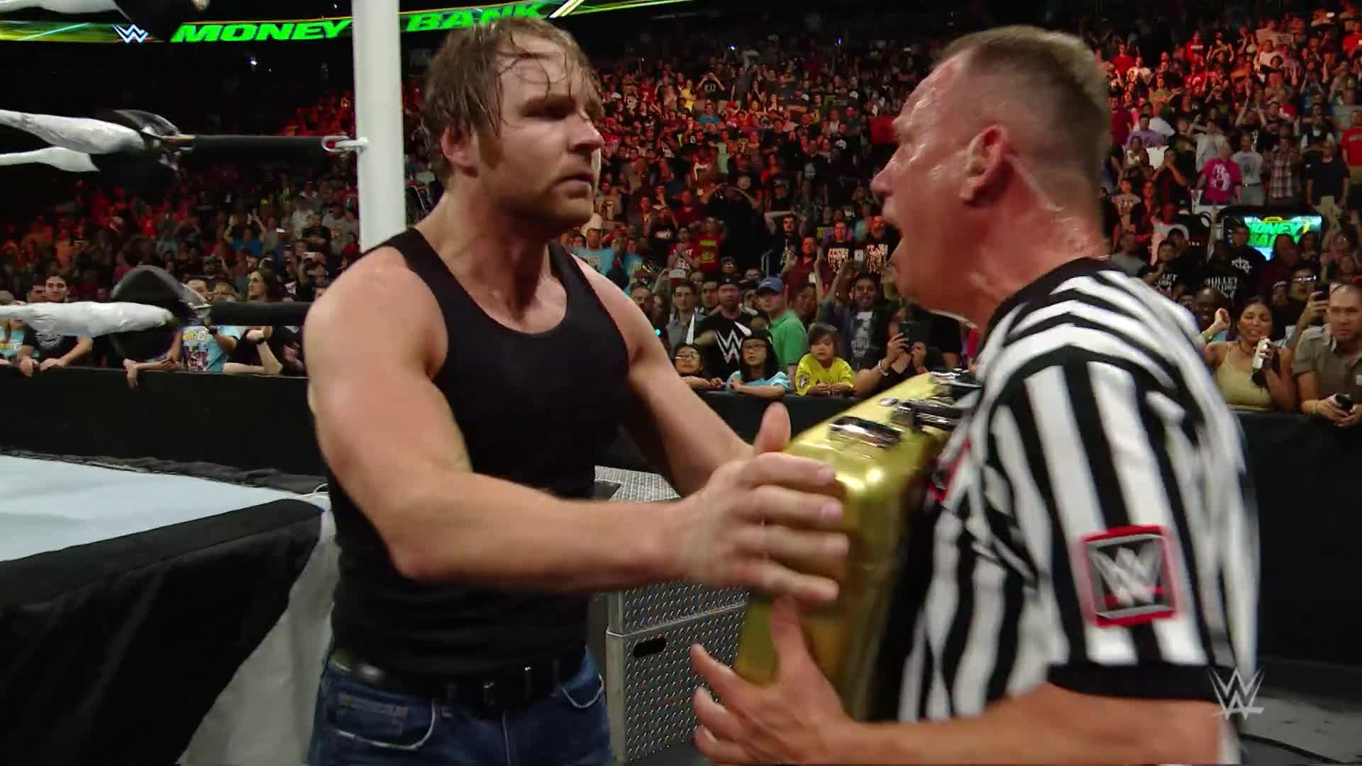 Dean Ambrose turns the Money in the Bank briefcase into a championship-winning weapon: WWE Money in the Bank 2016