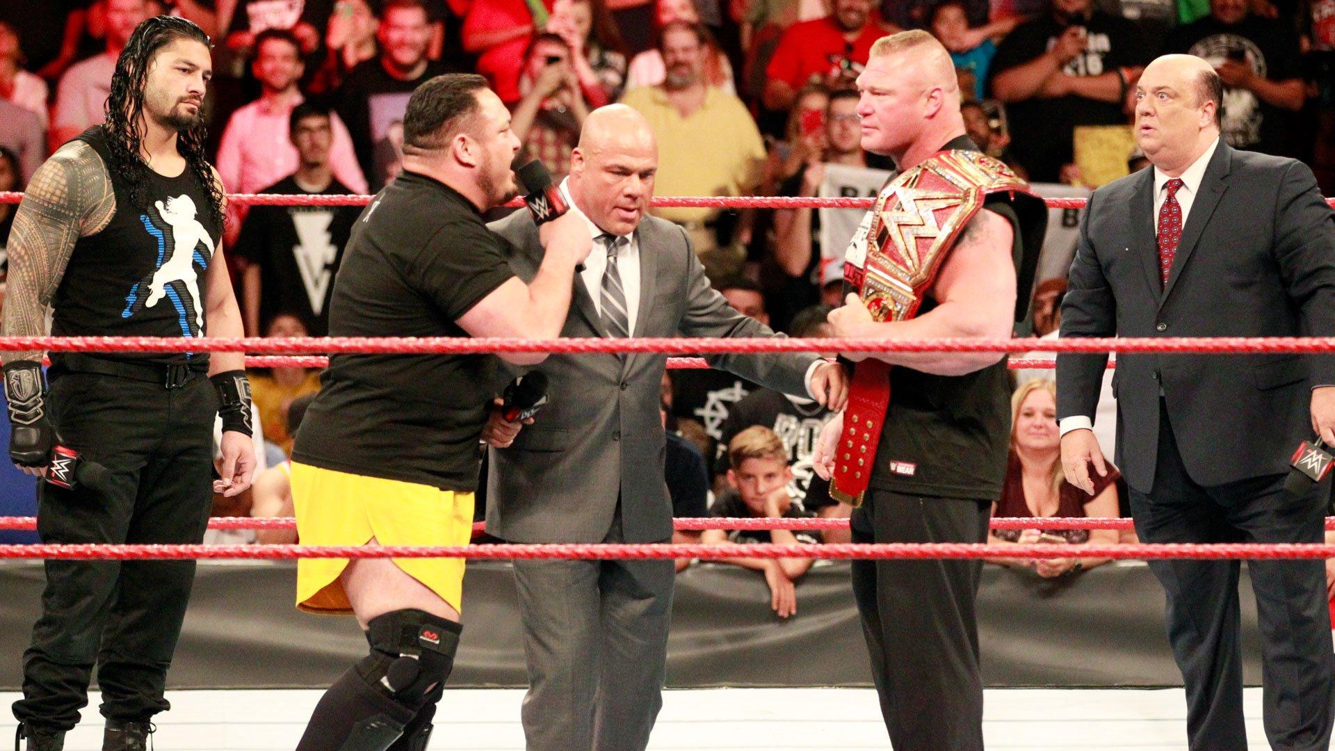 Kto stanie przed Brockiem Lesnarem na SummerSlam?: Raw 10.07.17