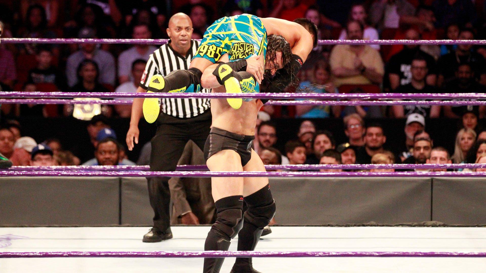 Akira Tozawa iCedric Alexander vs. Neville i Noam Dar: Raw 10.07.17