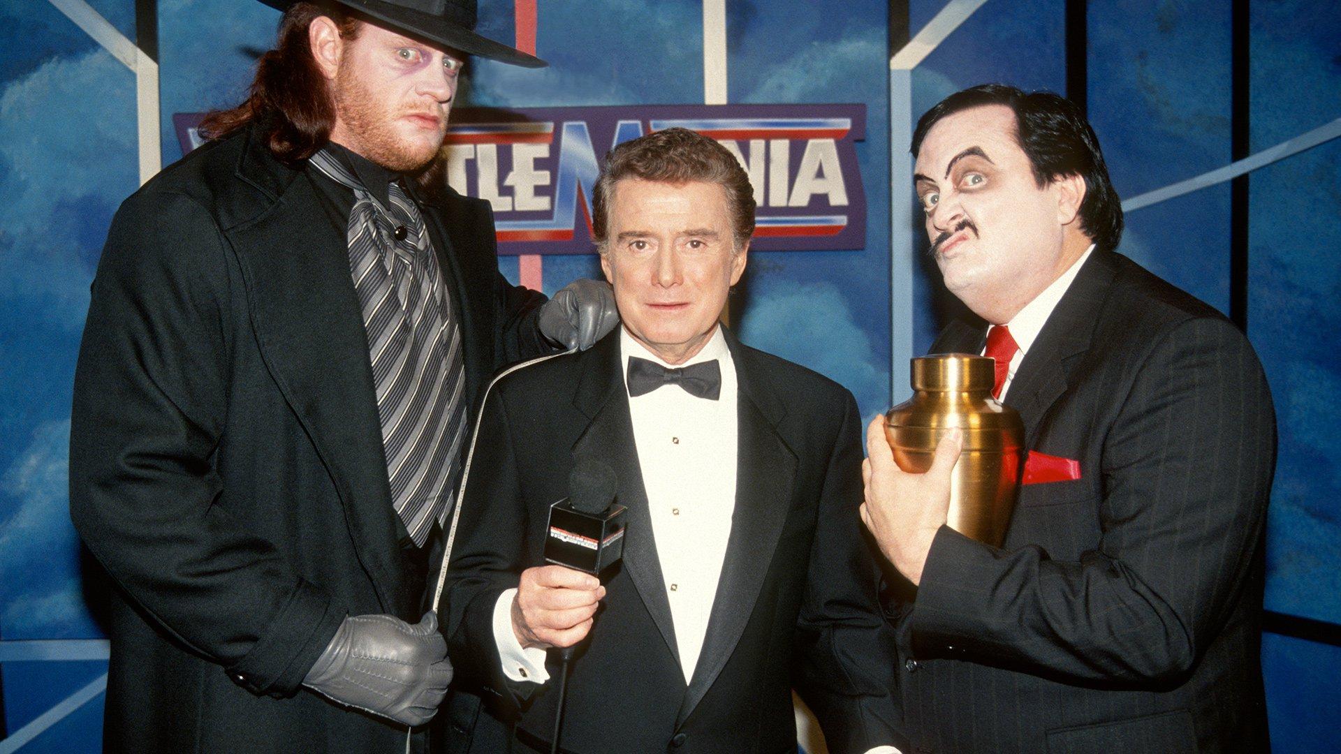 Regis Philbin interview The Undertaker à WrestleMania VII