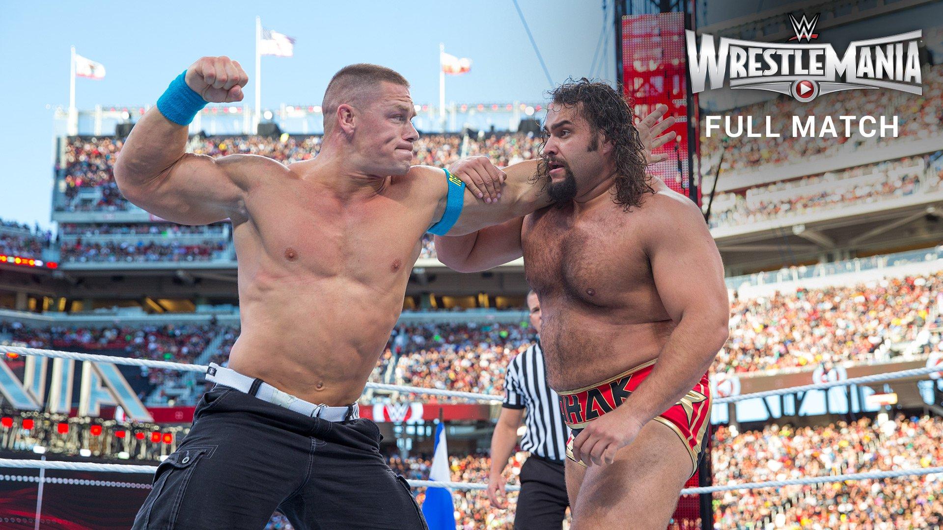 Rusev vs. John Cena - U.S. Title Match: WrestleMania 31 (Full Match ...