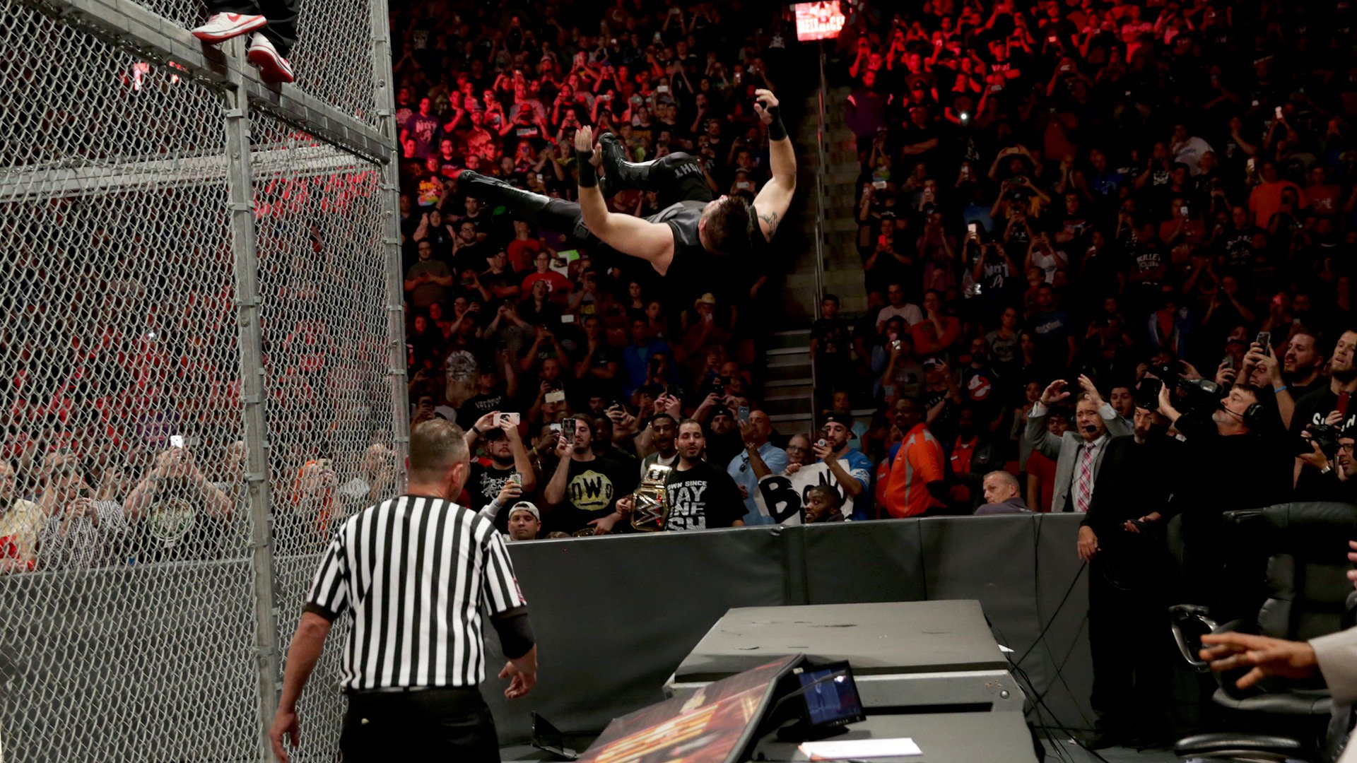 Shane McMahon sends Kevin Owens crashing onto the announce table: WWE Hell in a Cell 2017 (WWE Network Exclusive)