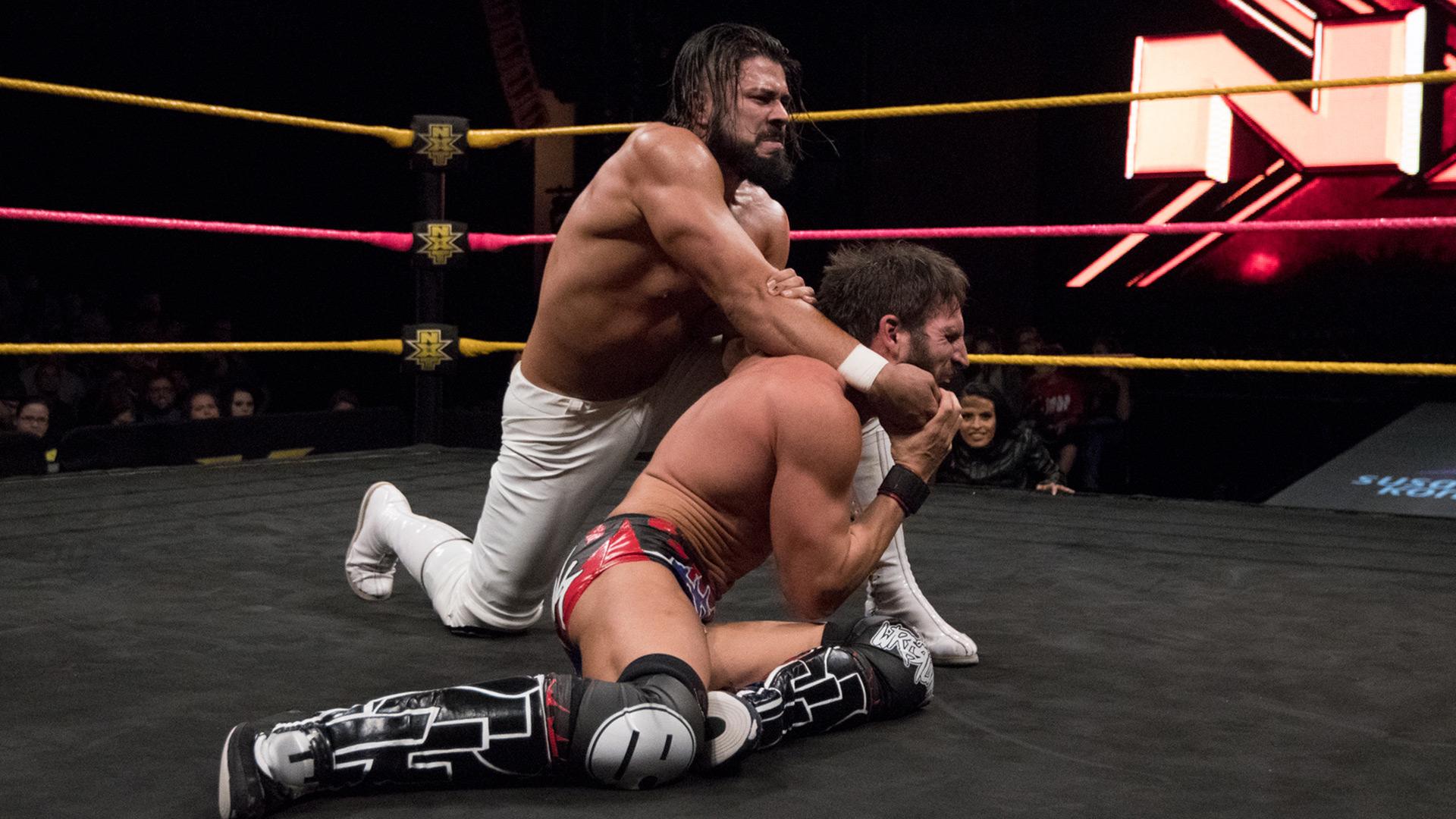 """Johnny Gargano vs. Andrade """"Cien"""" Almas: WWE NXT, 11 Octobre 2017."""