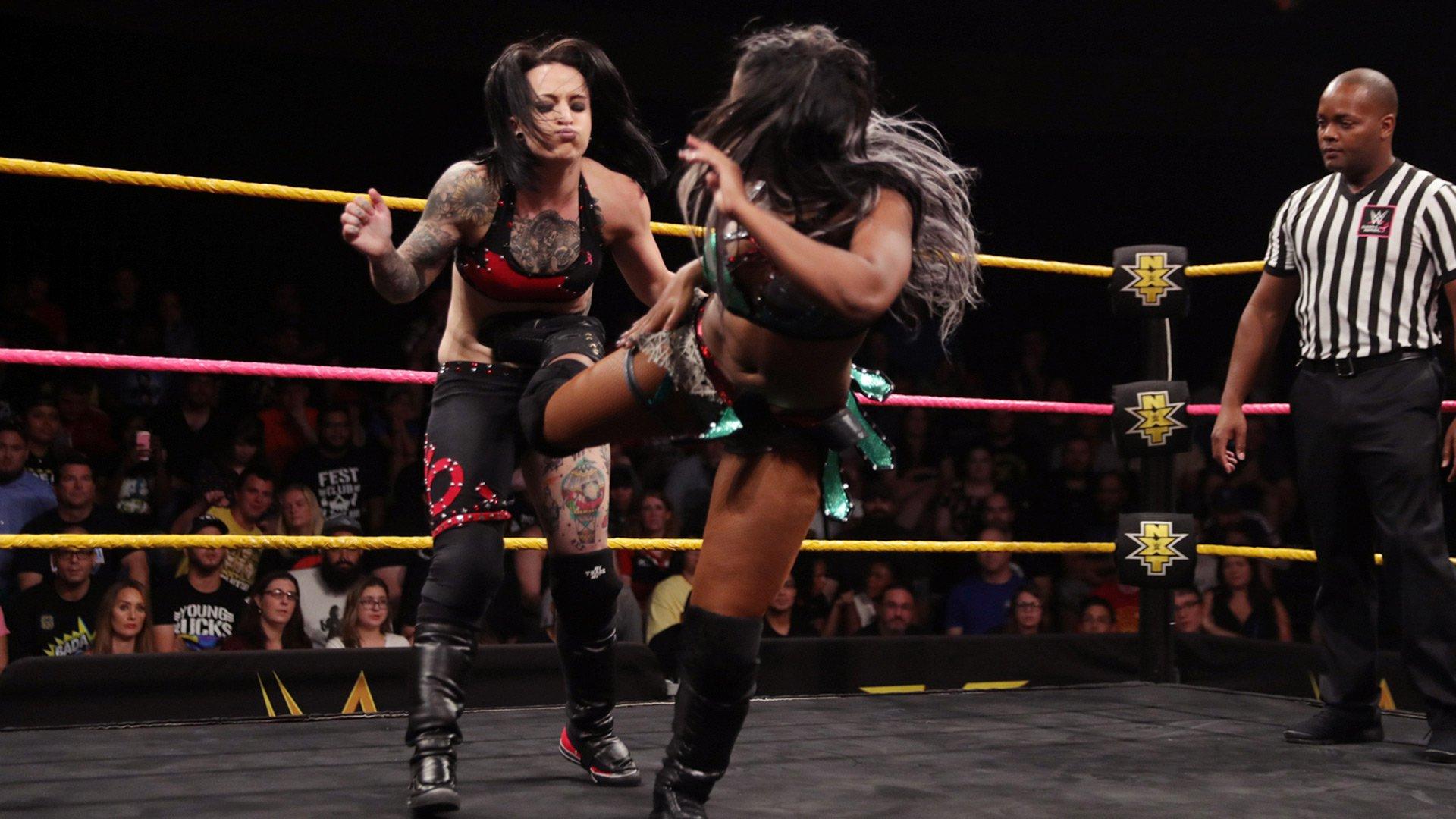Ember Moon vs. Ruby Riot vs. Sonya Deville - NXT Women's Championship Qualifying Triple Threat Match: WWE NXT, Oct. 18, 2017