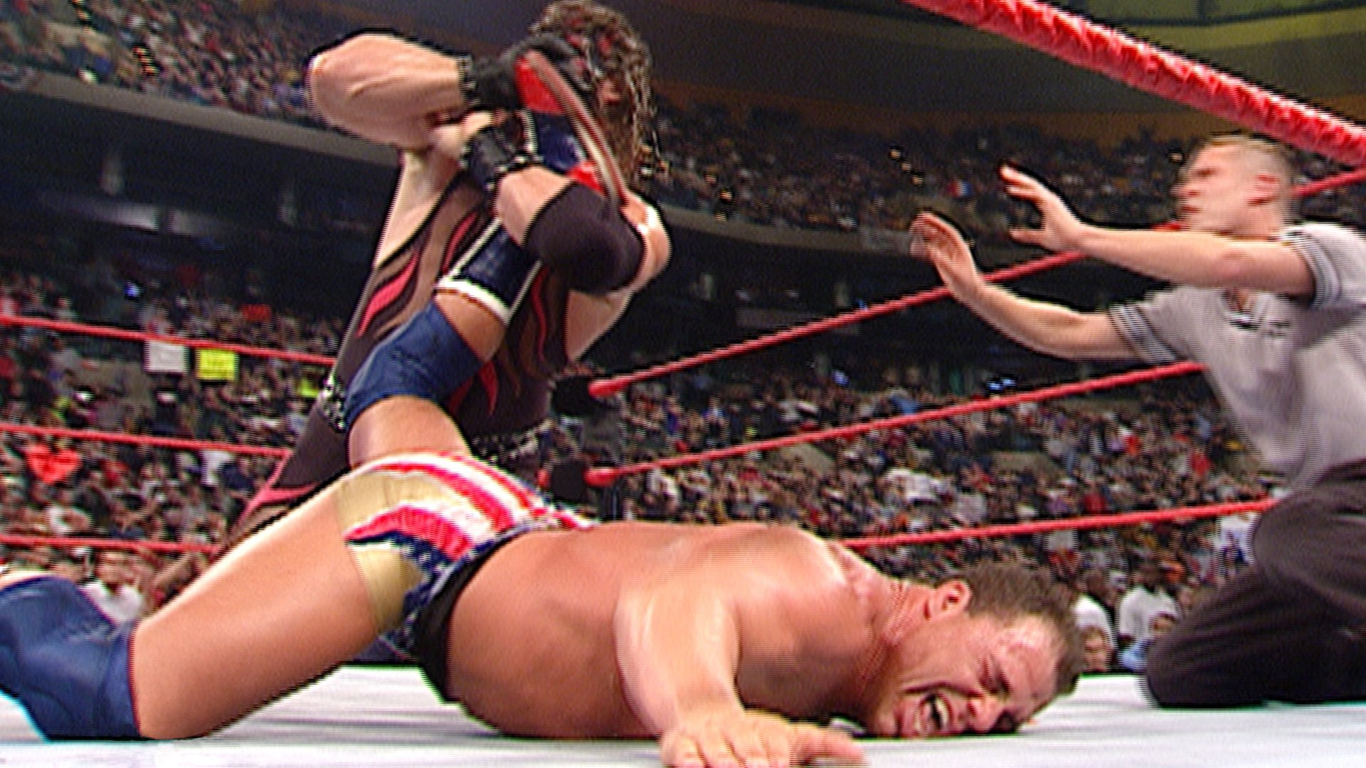 Kane puts Kurt Angle in the Ankle Lock: Raw, Nov. 12, 2001