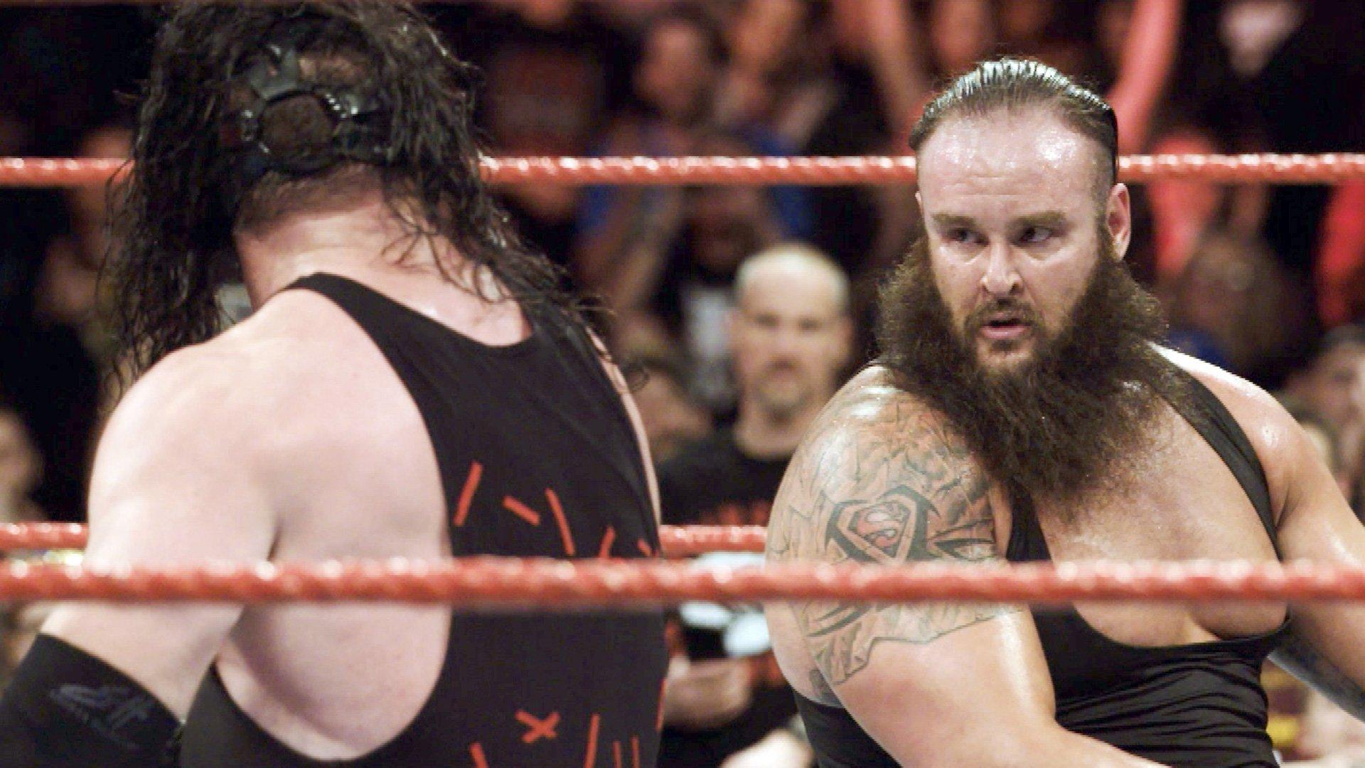 Le Main Event entre Braun Strowman et Kane comme vous ne l'avez jamais vu: Exclusivité WWE.fr, 18 Décembre 2017.