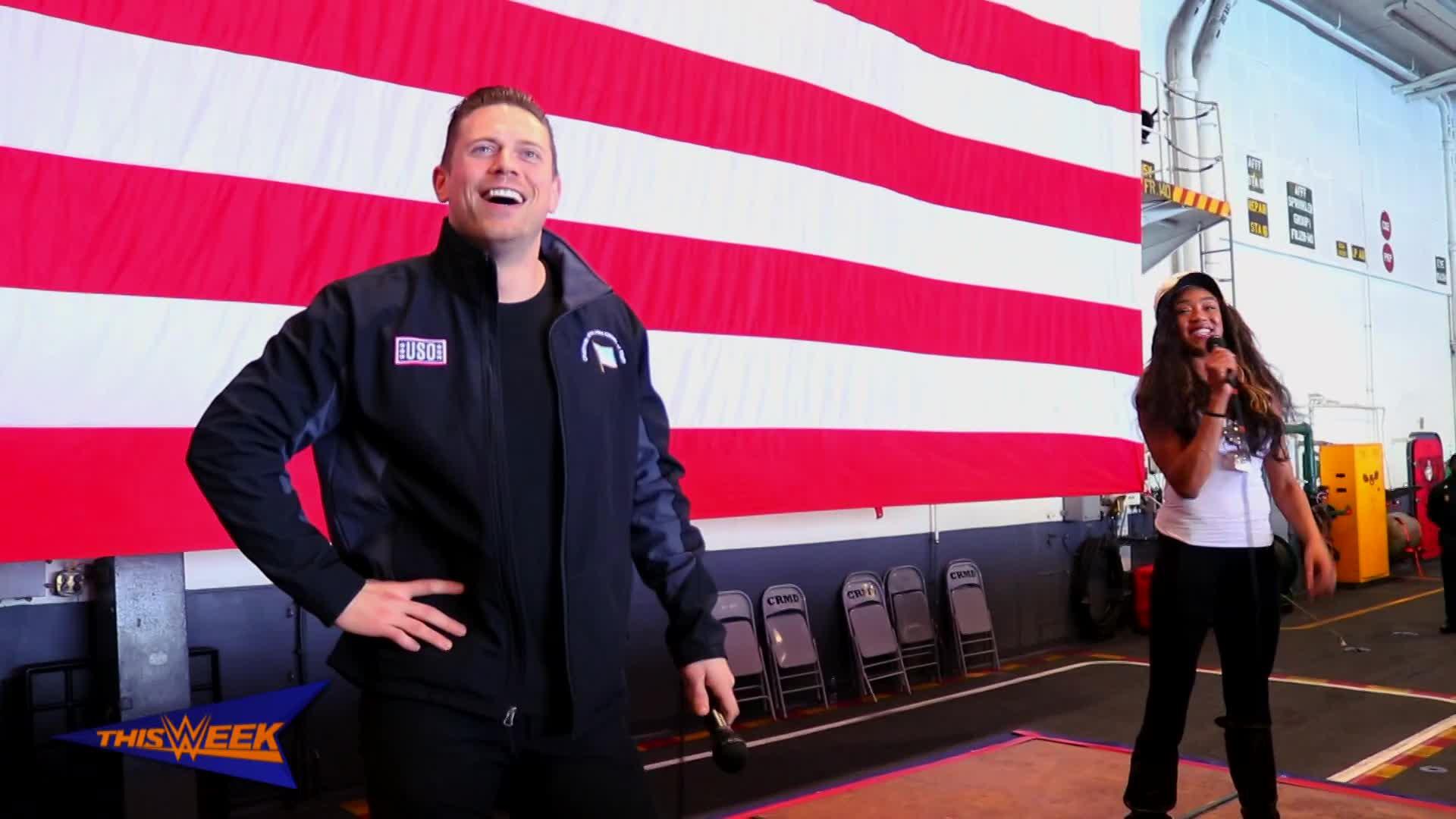 The Miz et Alicia Fox rejoignent USO pour saluer les militaires U.S.