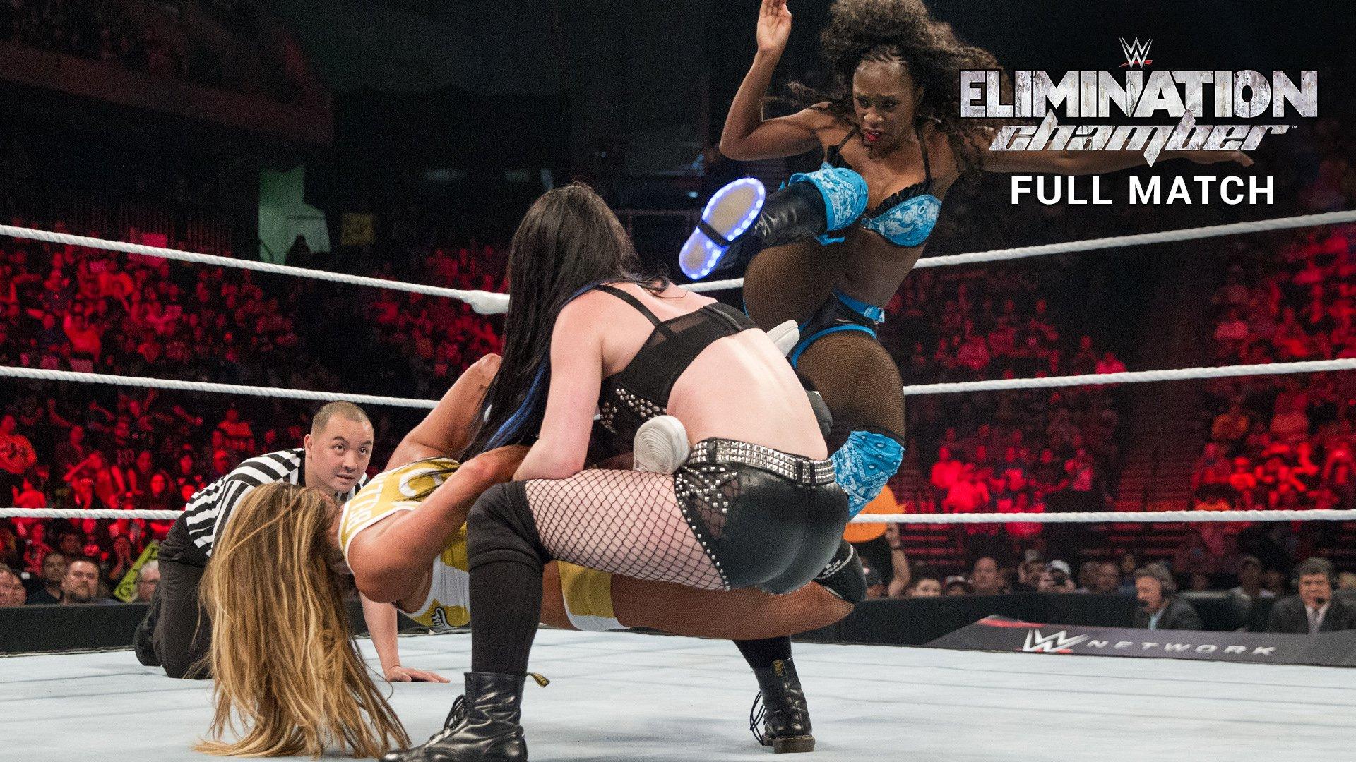 Nikki Bella vs. Paige vs. Naomi - Match Triple Menace Titre des Divas : Elimination Chamber 2015 (Match Intégral - Exclusivité WWE Network)