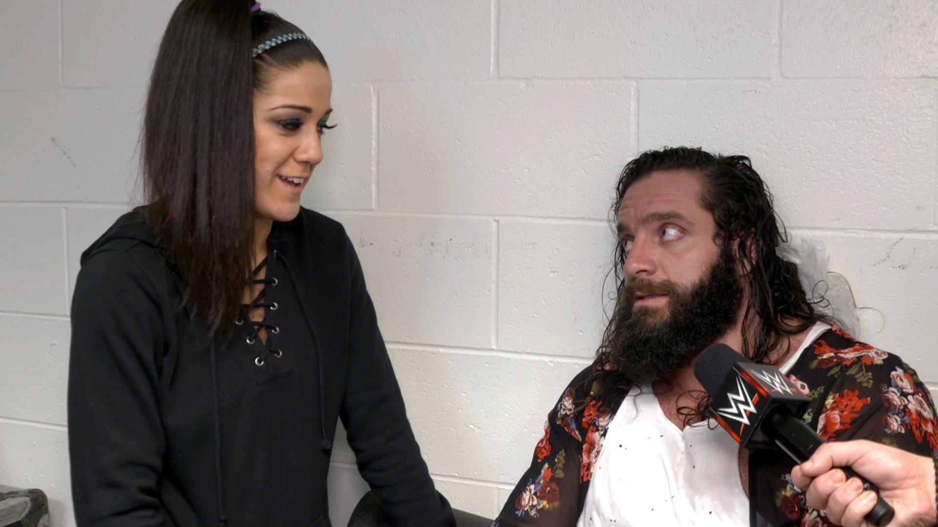 Bayley vérifie comment va Elias après avoir été détruit par Braun Strowman: Exclusivité WWE.fr, 12 Février 2018.