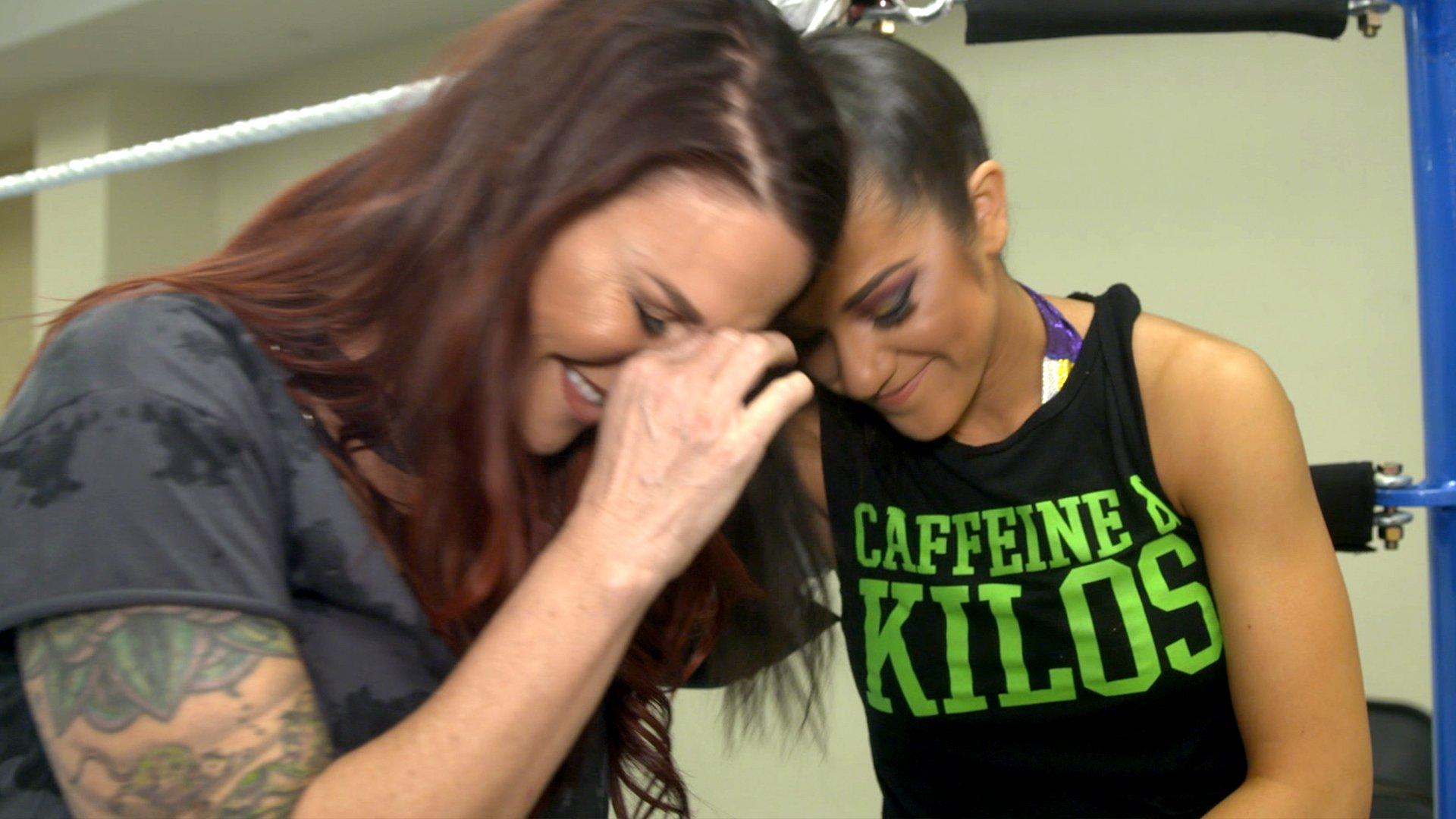 Lita pleure avant le Royal Rumble Match
