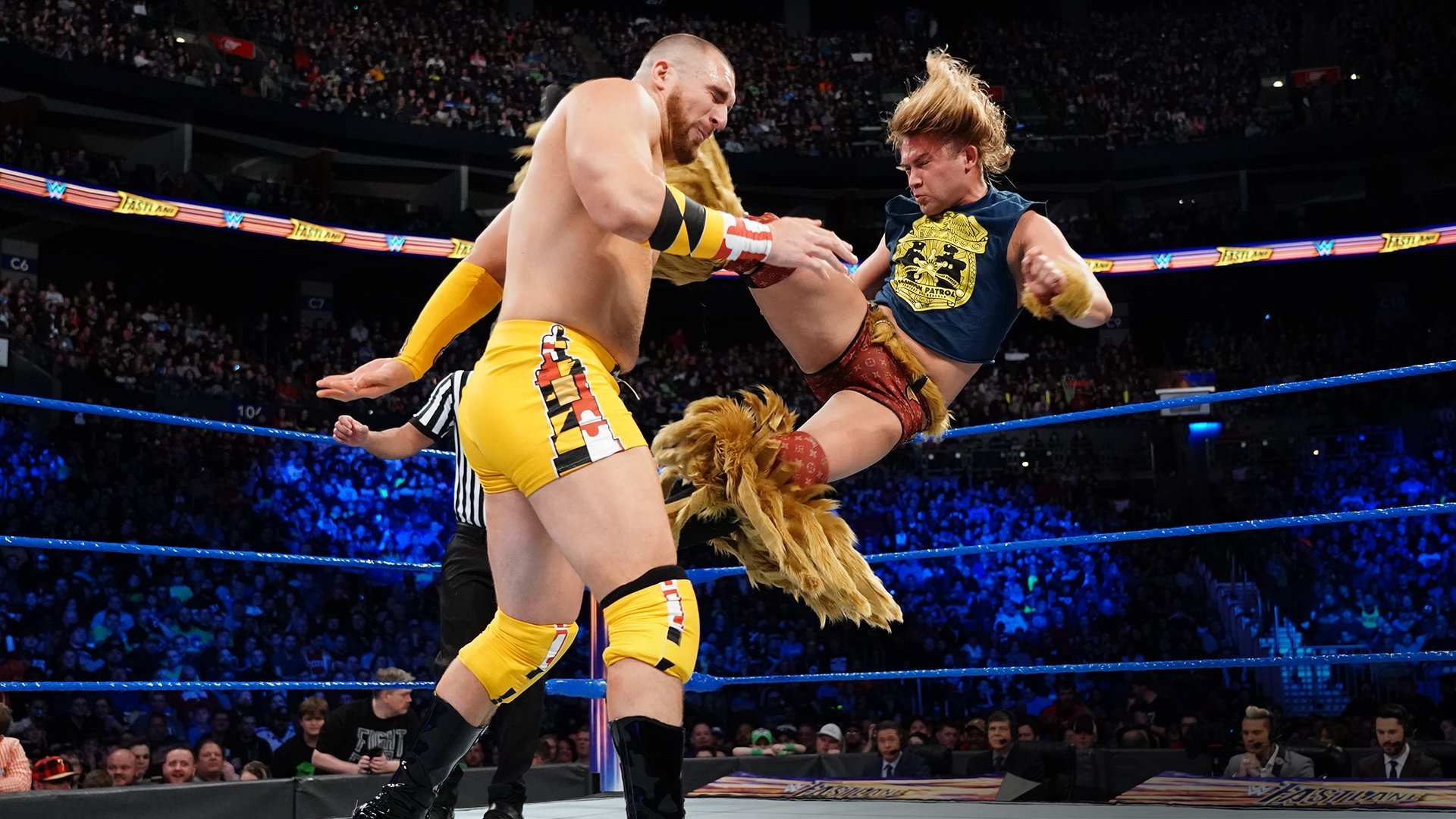 Chad Gable taunts Tyler Breeze: WWE Fastlane 2018 Kickoff Match | WWE