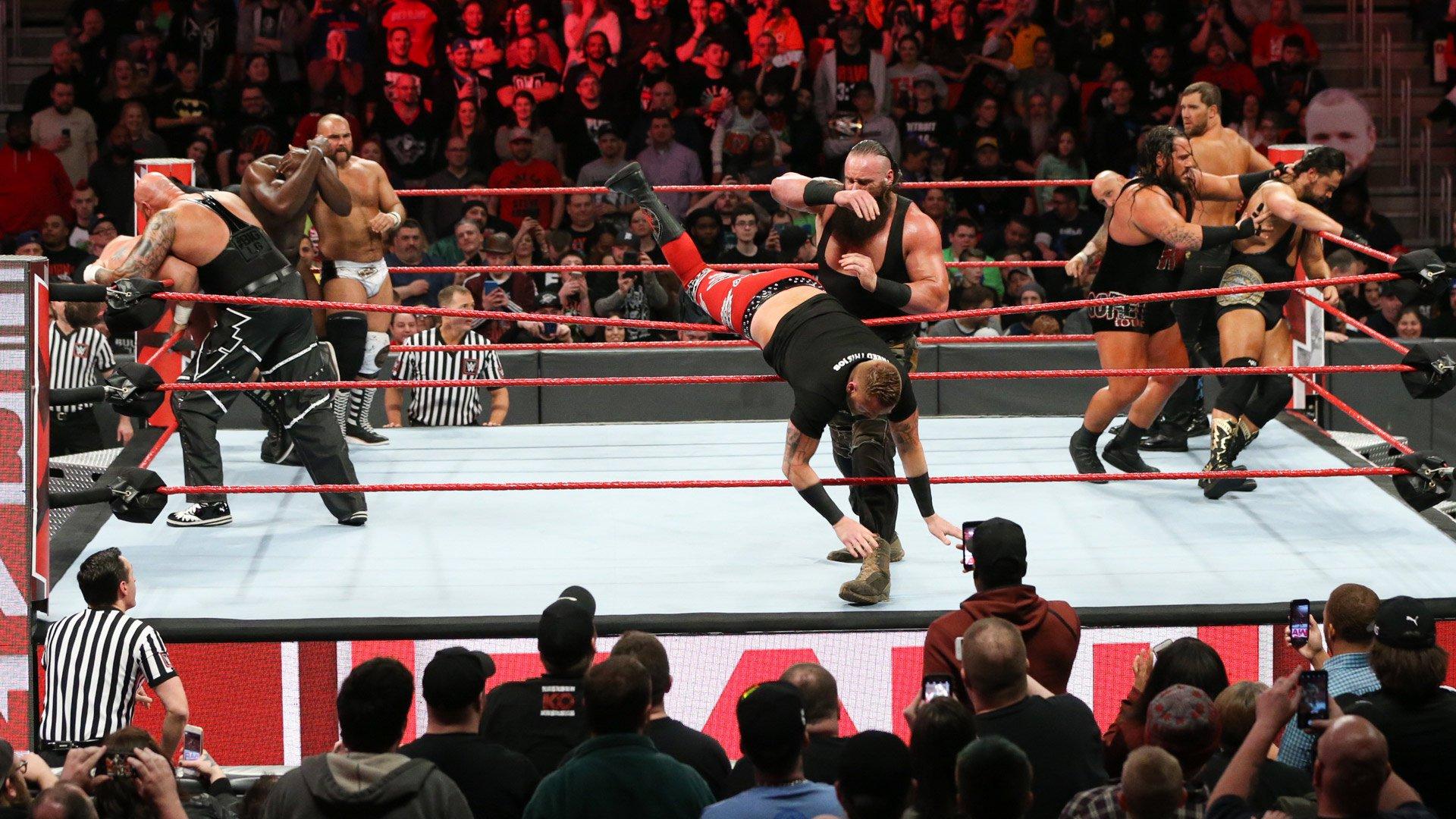 Bataille Royale par Équipes - Les Vainqueurs affronteront Sheamus & Cesaro pour les Titres par Équipes de Raw à WrestleMania: Raw, 12 Mars 2018.