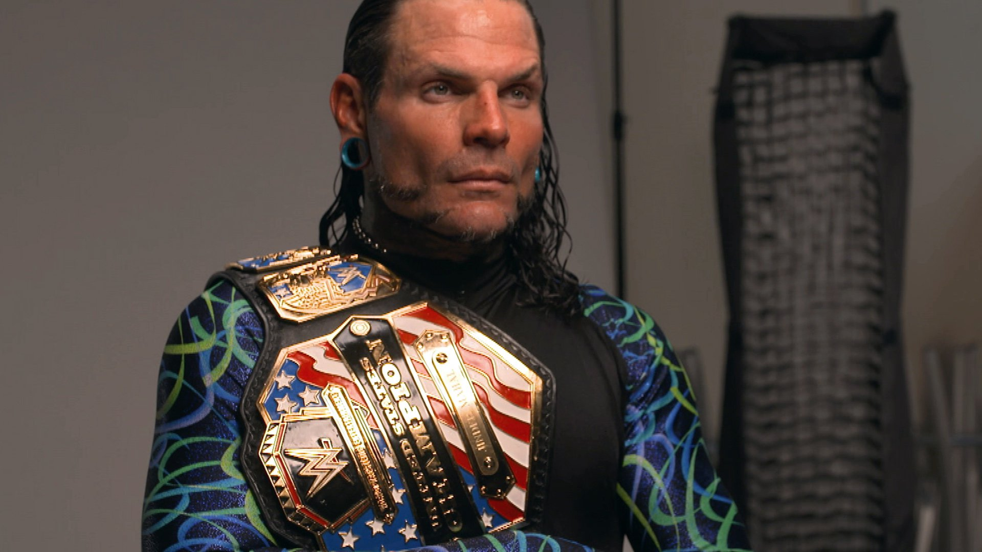 Jeff Hardy Is Photographed With His New United States Title Wwe