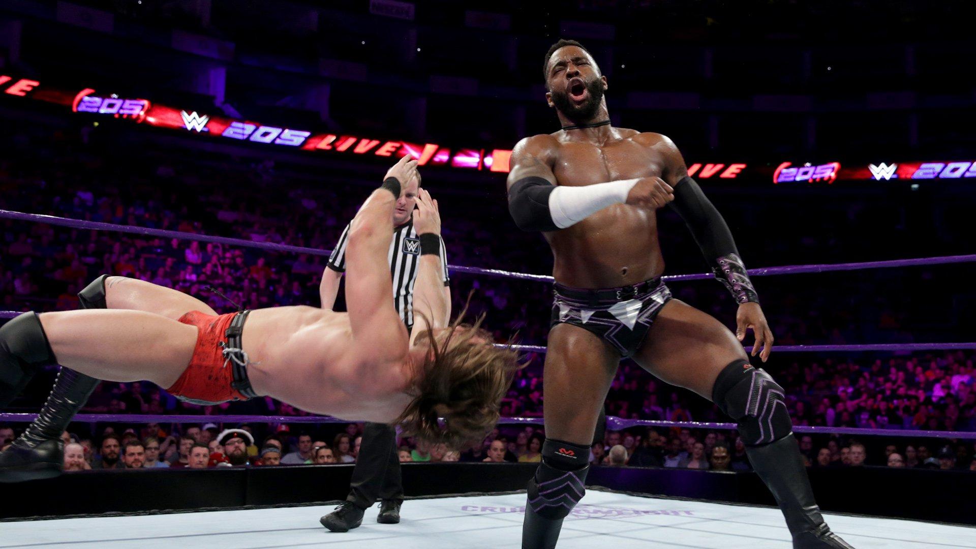 Cedric Alexander, Mustafa Ali & Flash Morgan Webster vs. Drew Gulak, James Drake & Joseph Conners: WWE 205 Live, 15 Mai 2018