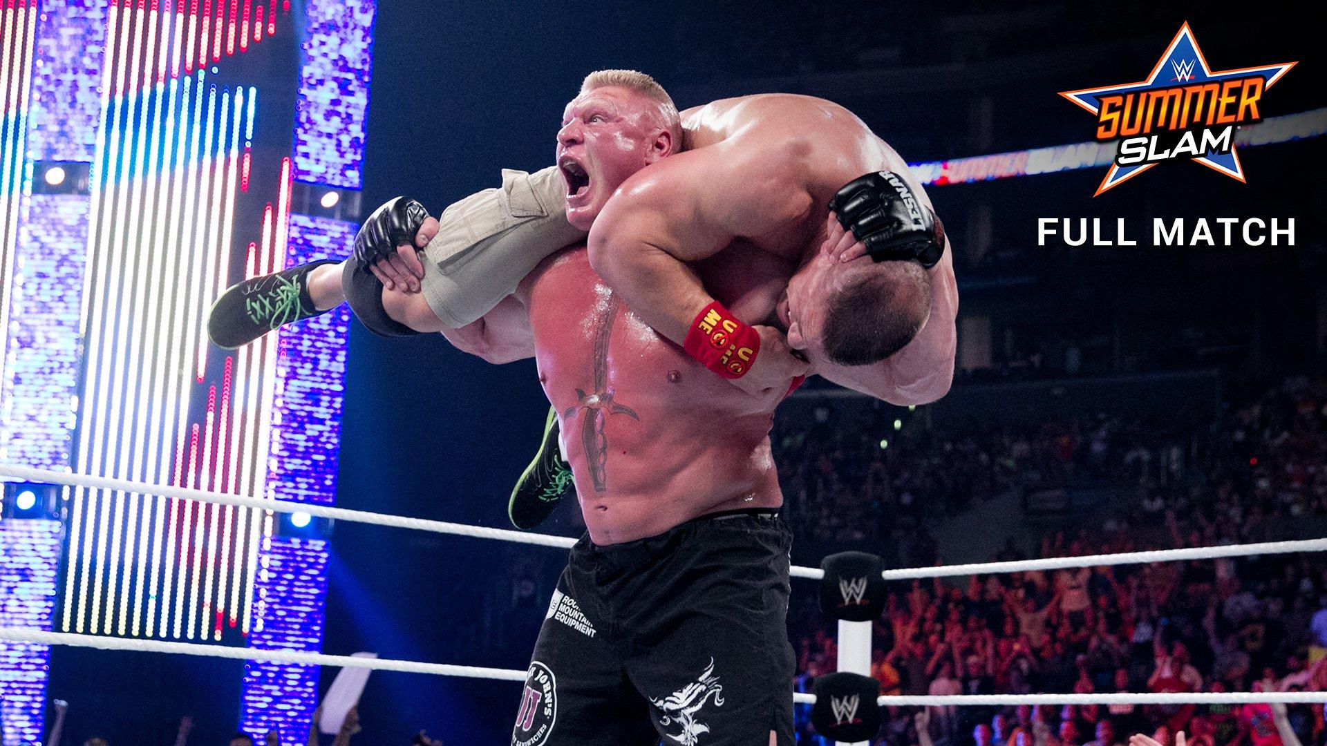 john cena vs brock lesnar wwe world heavyweight title match