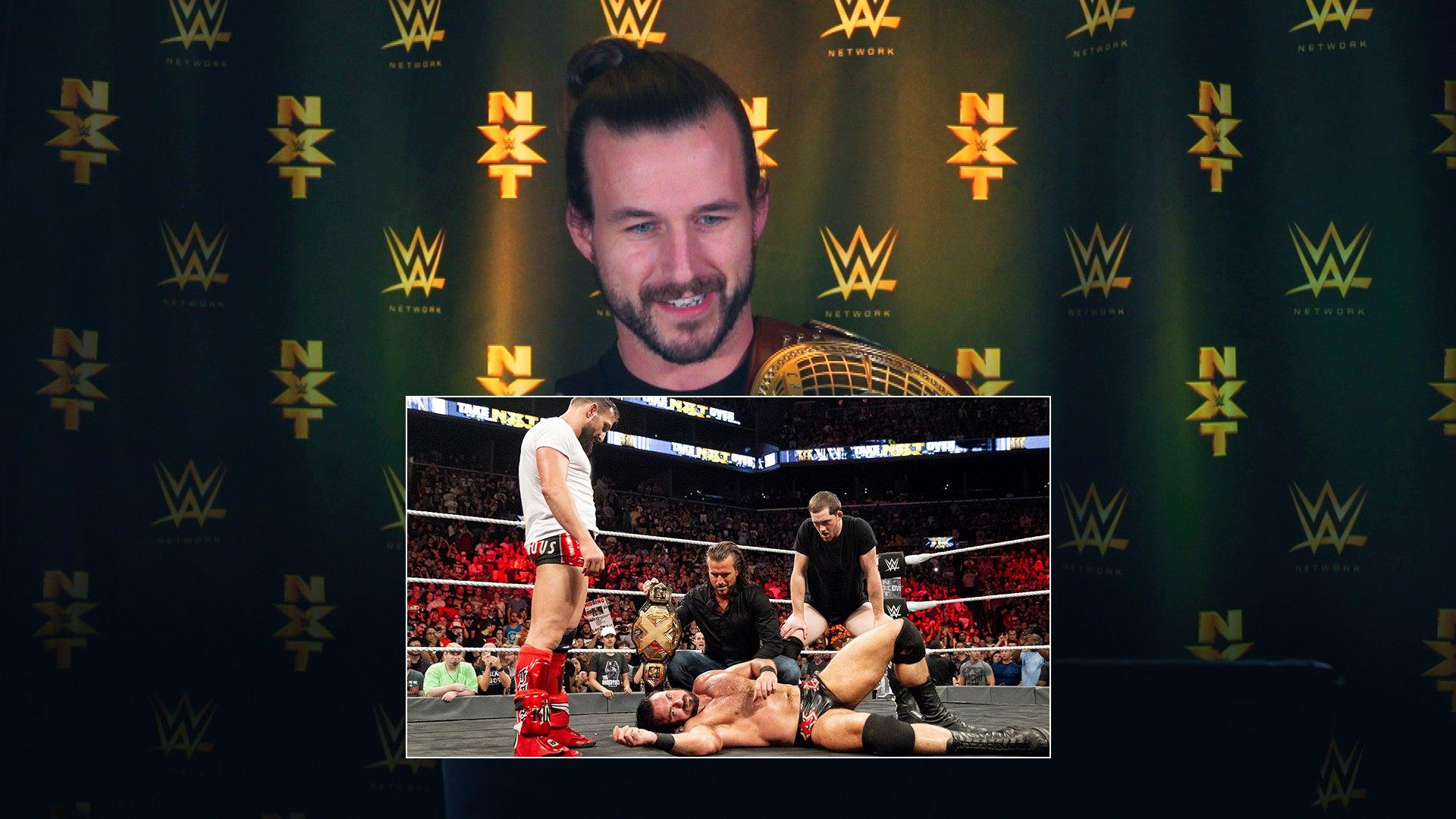 Adam Cole regarde ses débuts à NXT lors de TakeOver: Brooklyn III: WWE Playback