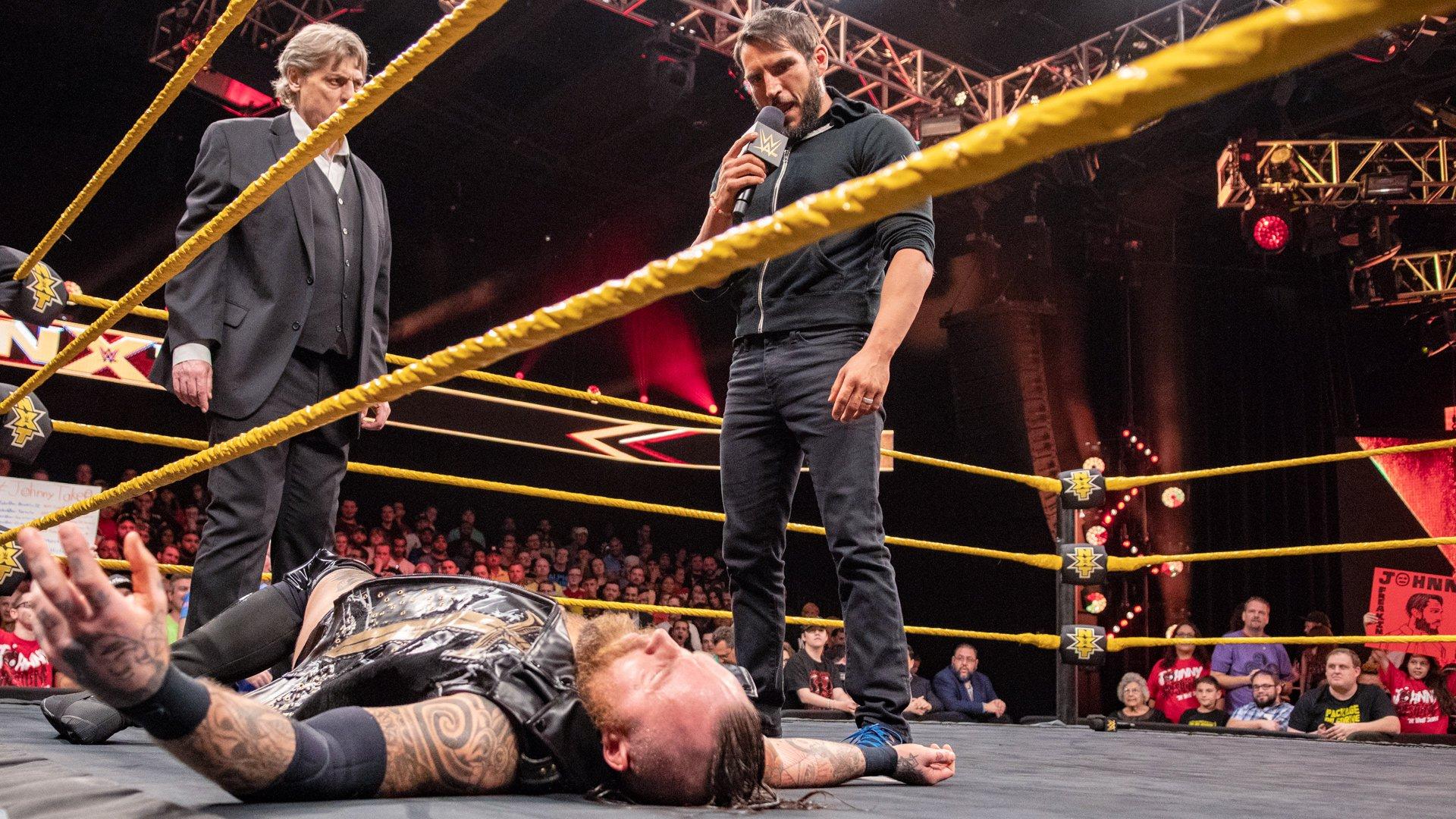 Johnny Gargano tend un piège à Aleister Black: WWE NXT, 24 Octobre 2018