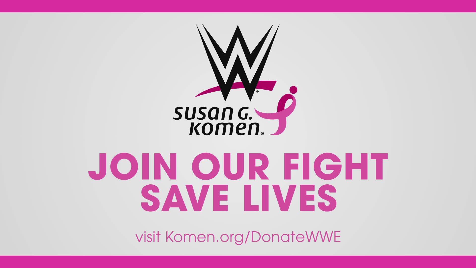 Rejoignez la WWE dans son soutien à Susan G. Komen