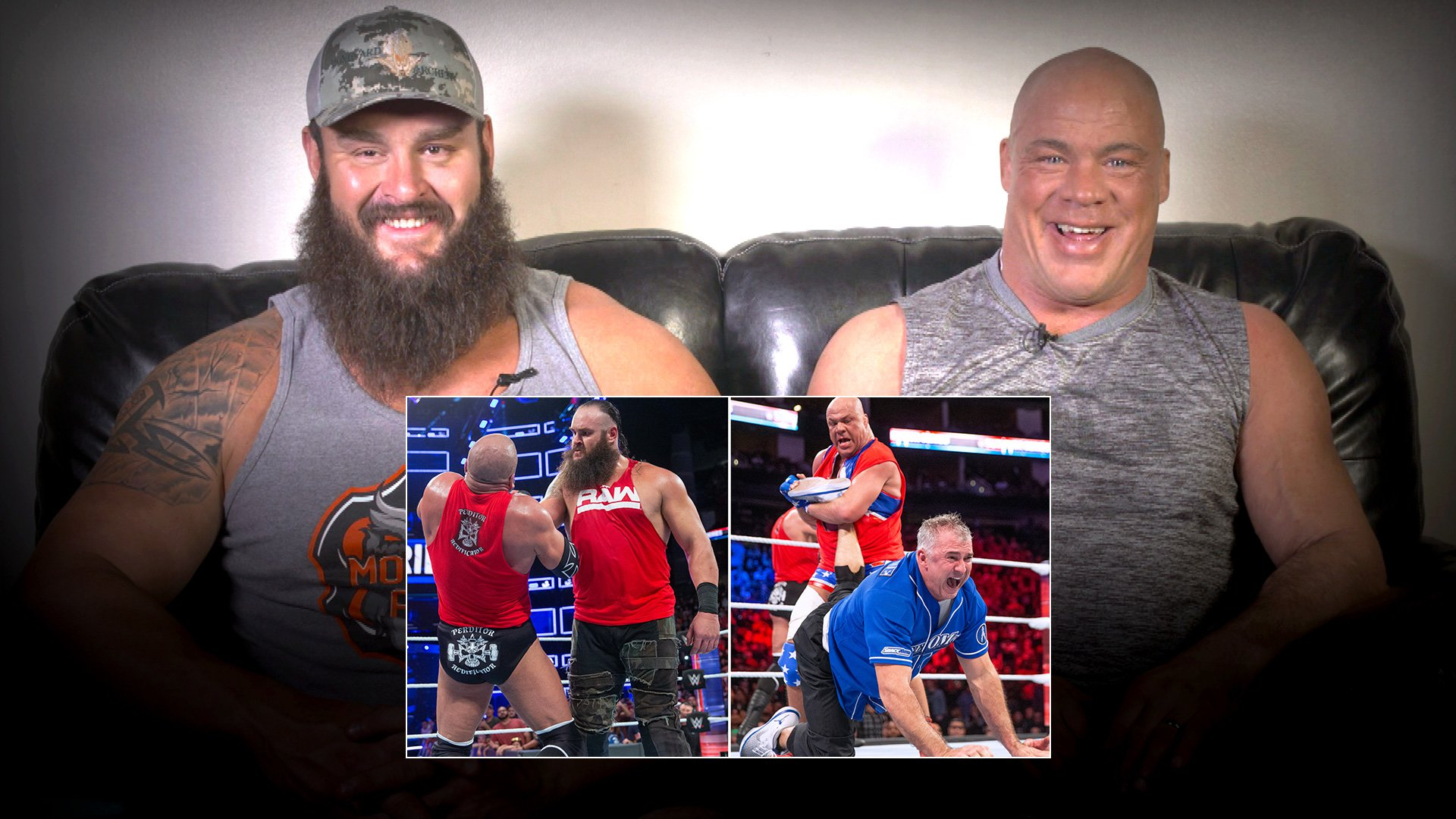 Kurt Angle & Braun Strowman regardent la bataille Raw vs. SmackDown des Survivor Series 2017: WWE Playback