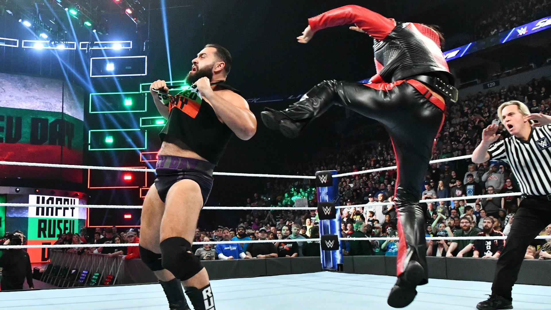 Shinsuke Nakamura attaque Rusev: SmackDown LIVE, 27 Novembre 2018