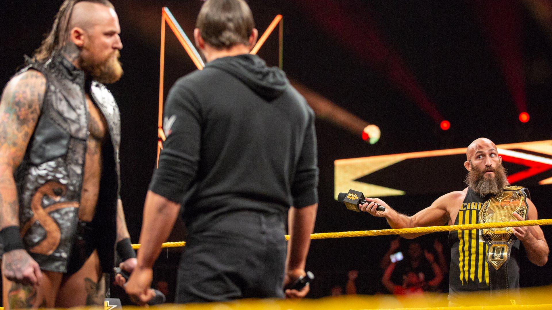 Tommaso Ciampa invite un Match en Cage de Métal entre Aleister Black et Johnny Gargano: WWE NXT, 5 Décembre 2018