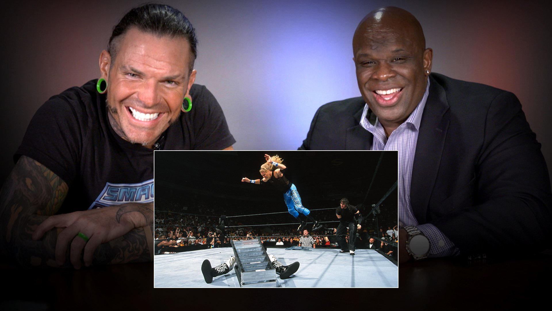 Jeff Hardy & D-Von Dudley regardent leur Match TLC: WWE Playback