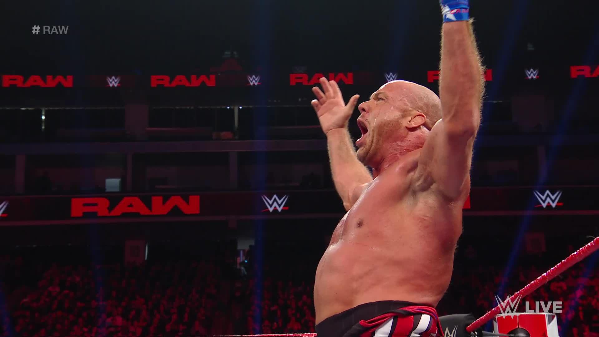 Kurt Angle, Bobby Roode, Chad Gable & Apollo Crews vs. Baron Corbin - No Disqualification 4-on-1 Handicap Match: Raw, Dec. 17, 2018