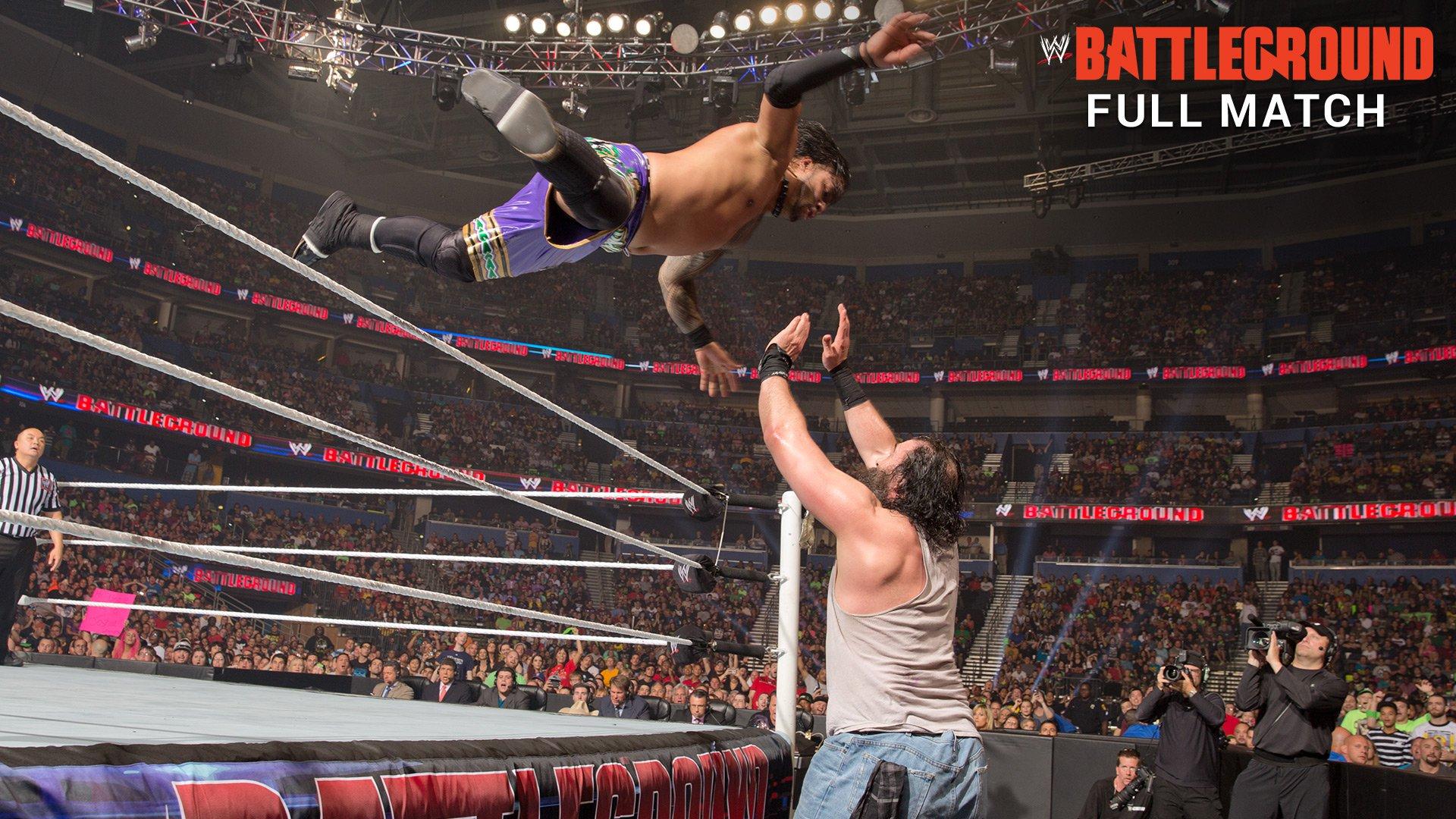 Image result for Battleground 2014 The Usos vs The Wyatt Family