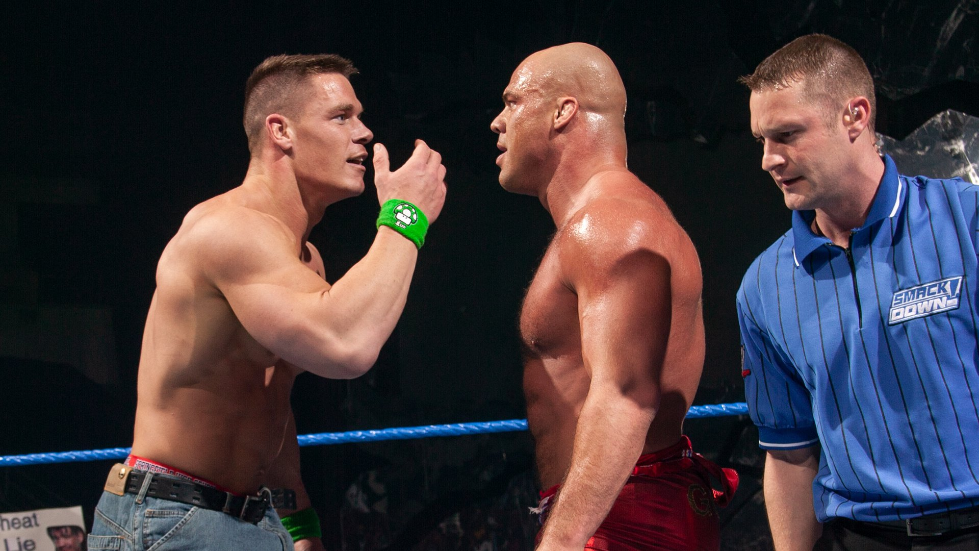 Kurt Angle & John Cena vs. The Bashams: SmackDown, Feb. 19, 2004